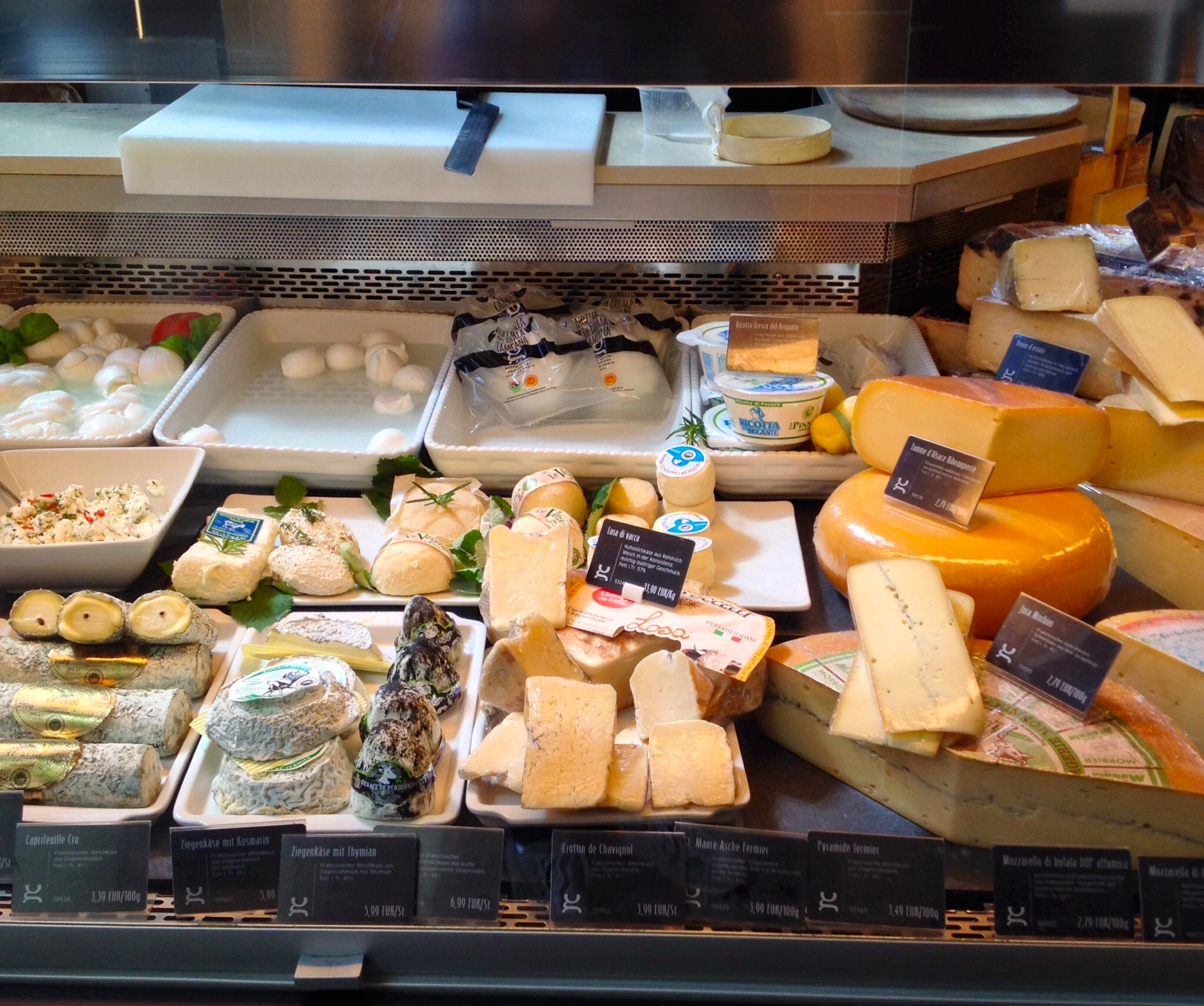Fresh cheese at Di Gennaro