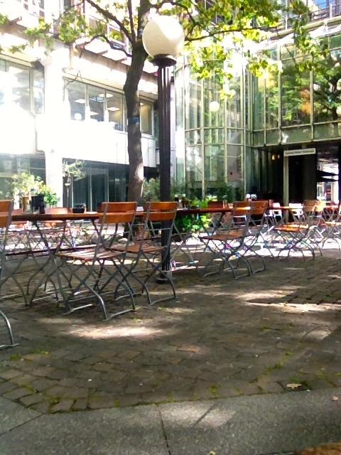 The patio at La Piazza