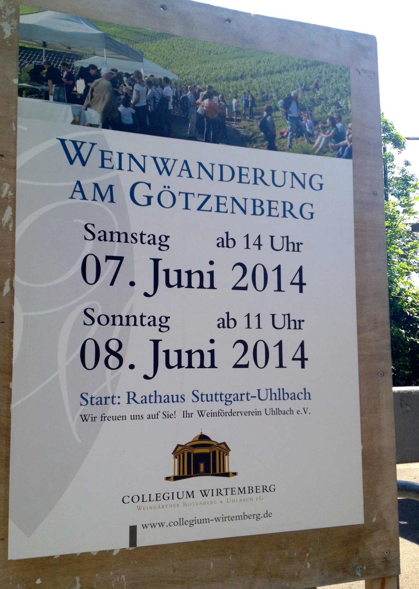 A poster advertising the wine walk
