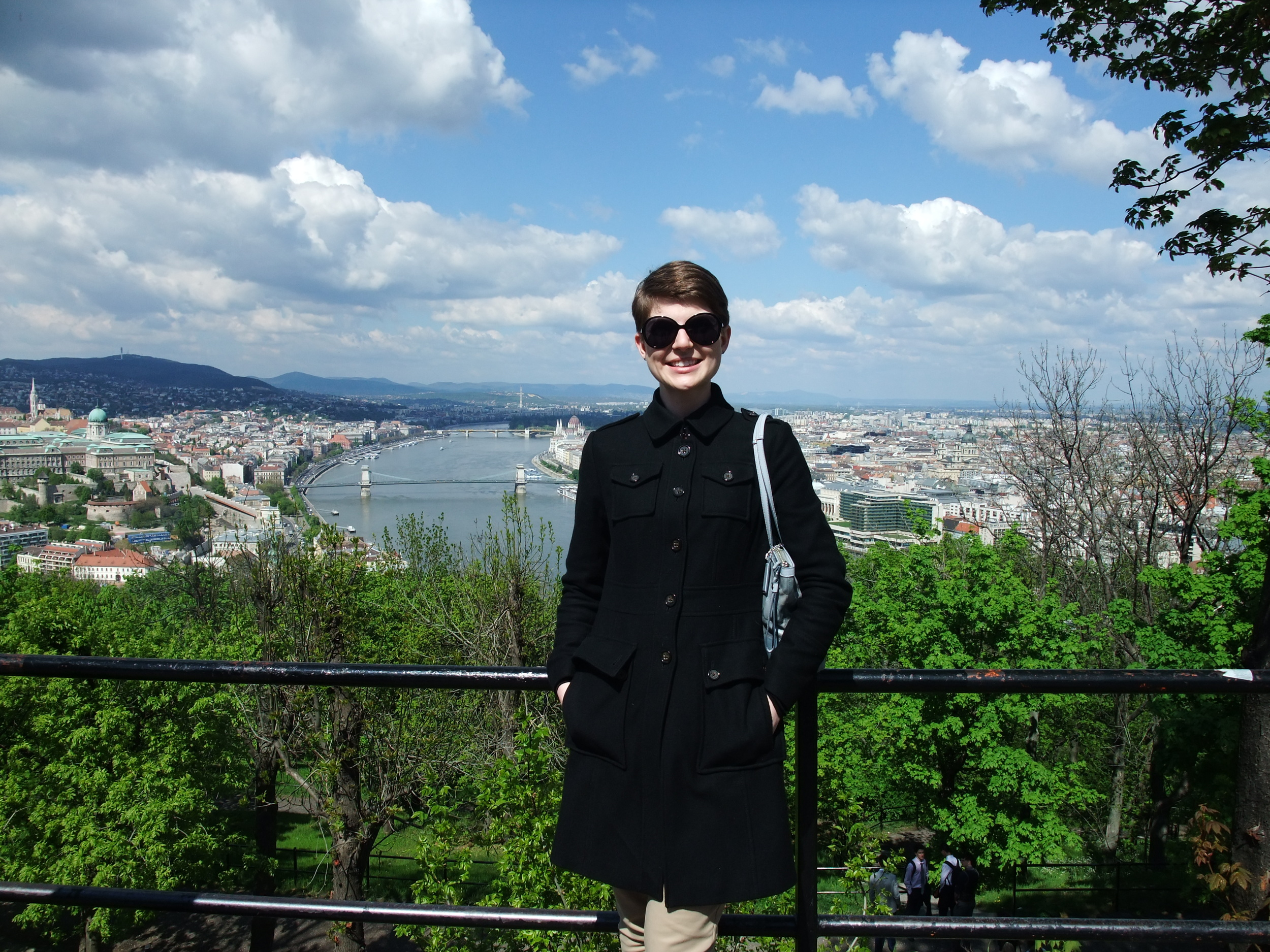 At the top of Gellért Hill