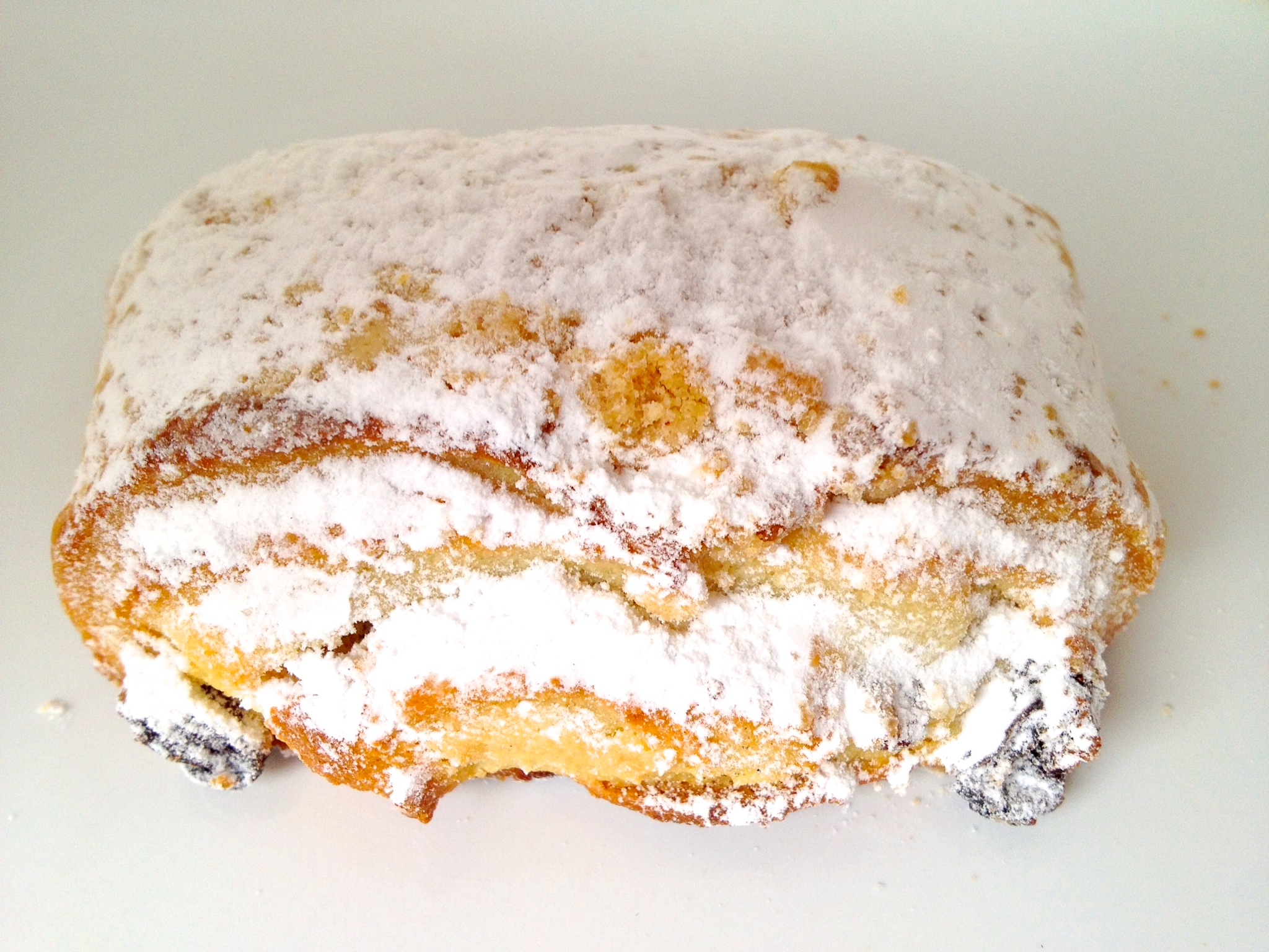 Bobbes: a kind of short bread studded with raisins and filled with what tasted like marzipan and covered with powdered sugar