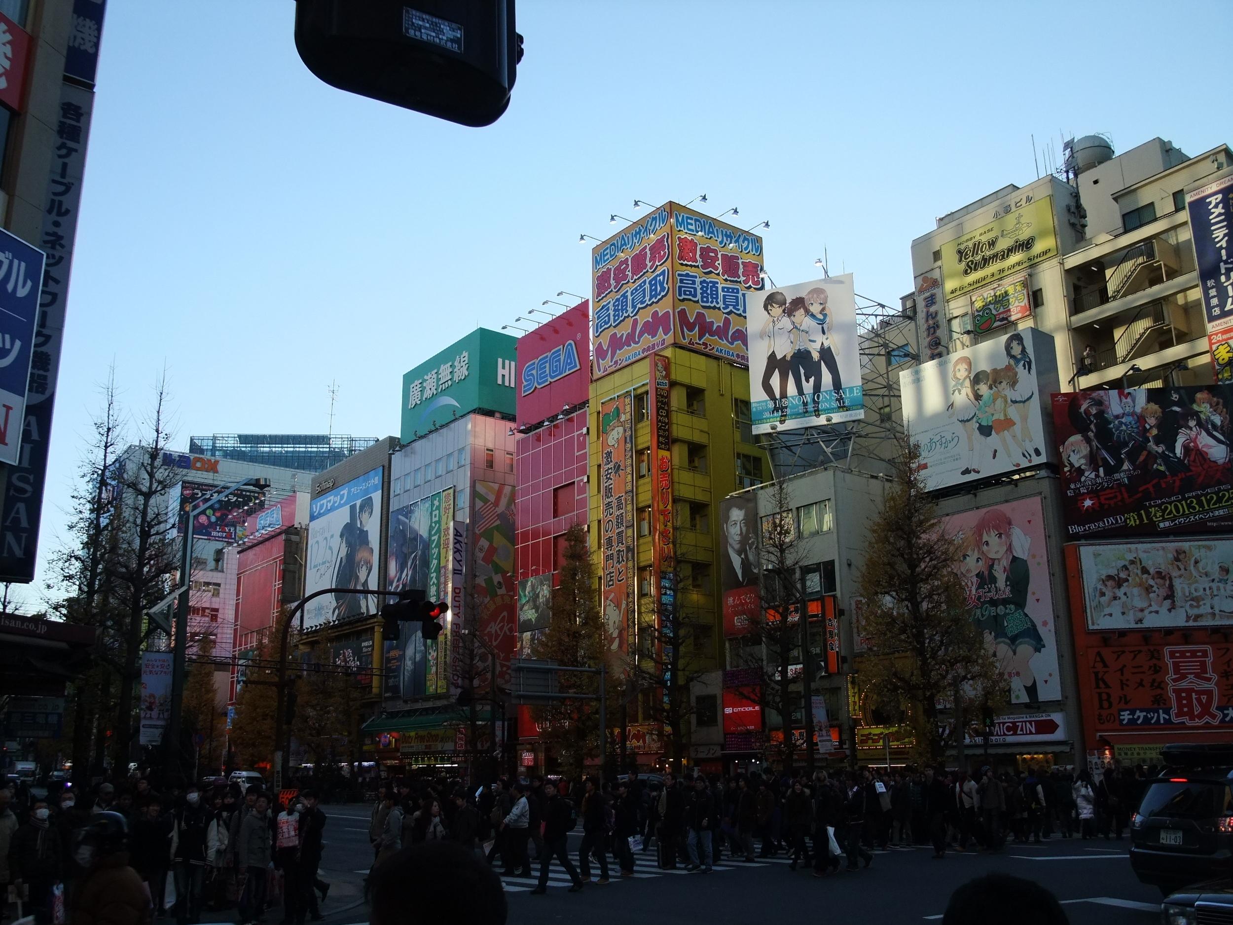The bright lights of Akihabara