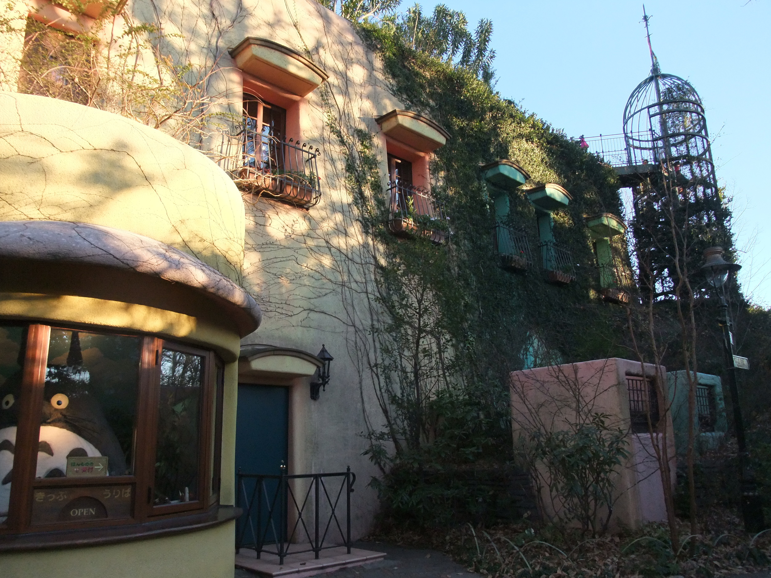 The outside of the Studio Ghibli Museum (yes, that's Totoro in the ticket booth)