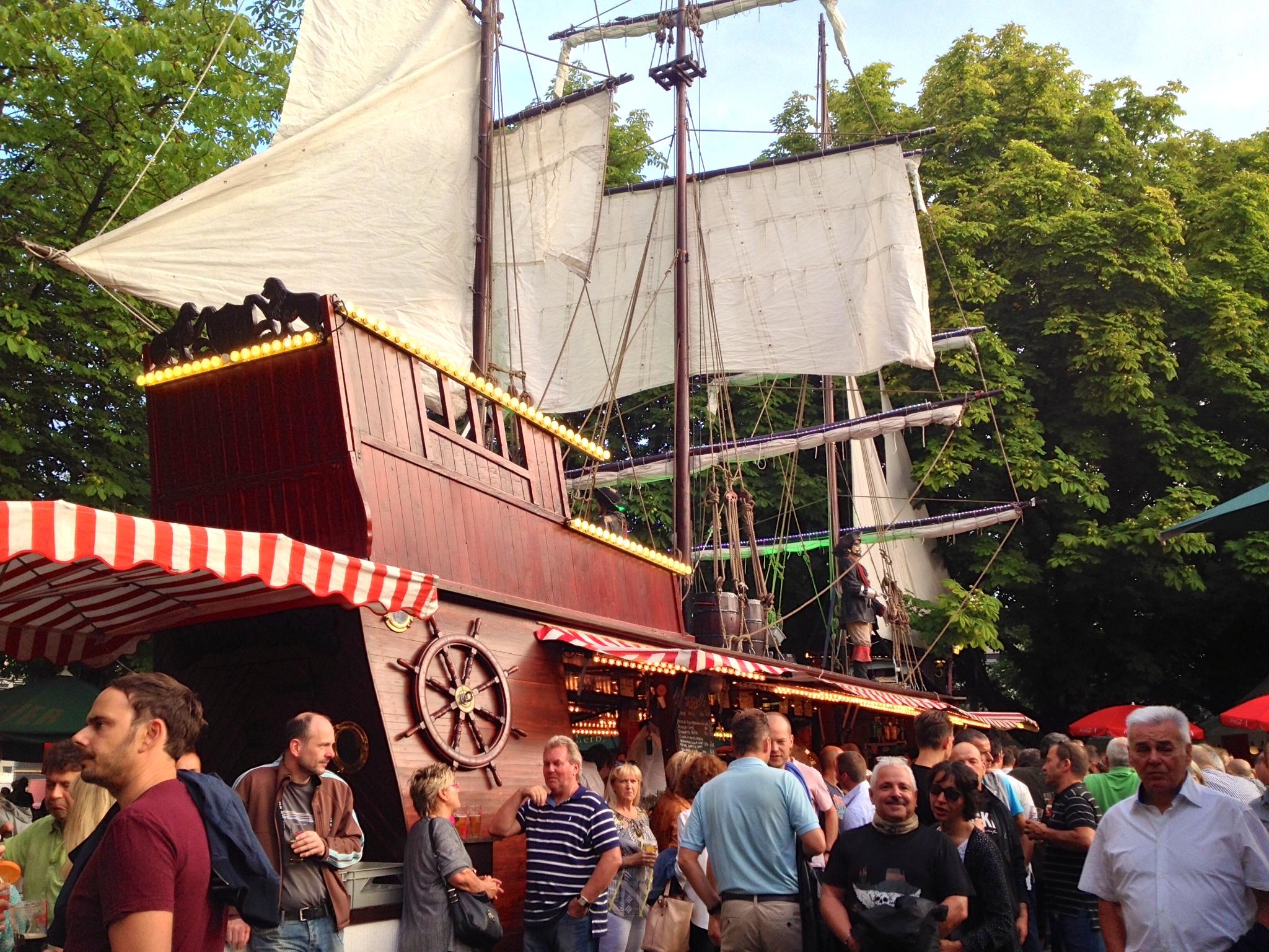 Pirate-themed bar at the  Hamburger Fischmarkt