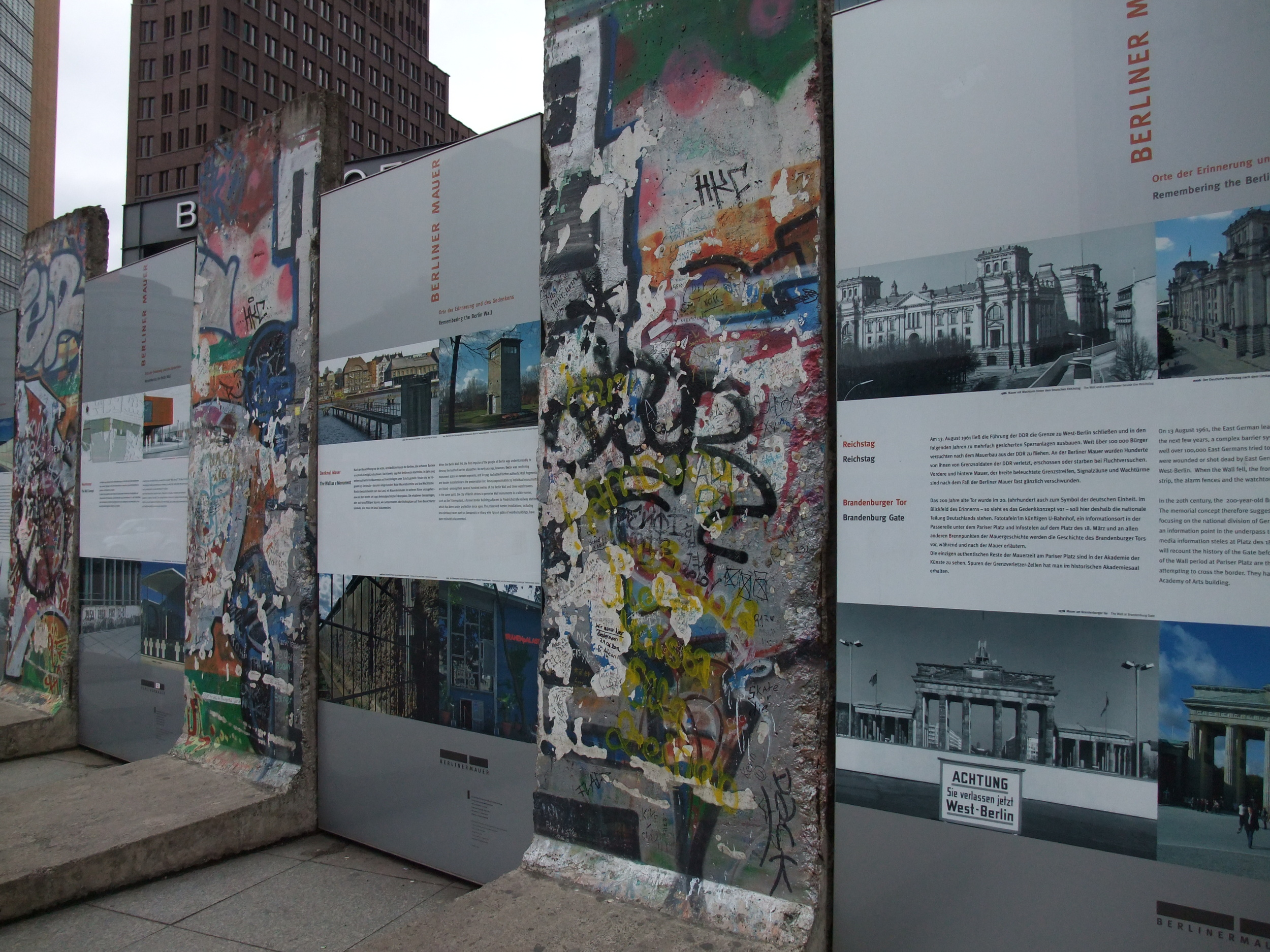 A section of the Berlin Wall at Potsdamer Platz