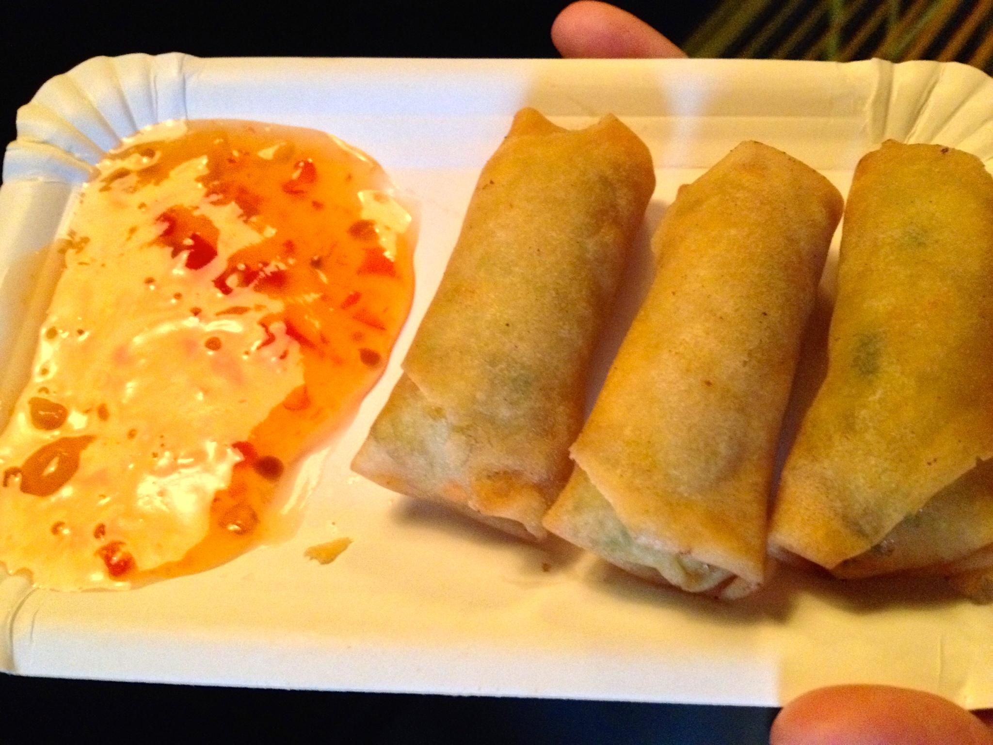 Mini fried spring rolls at Takeshii's