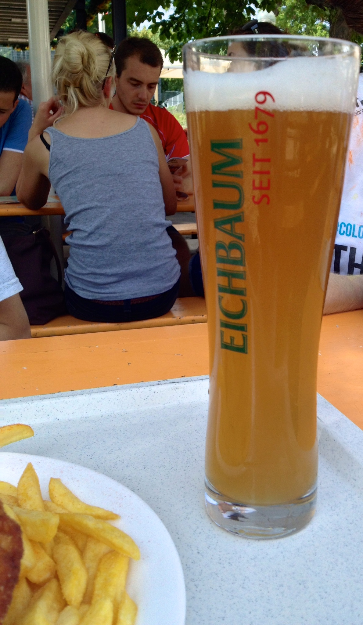 A half liter of hefeweizen