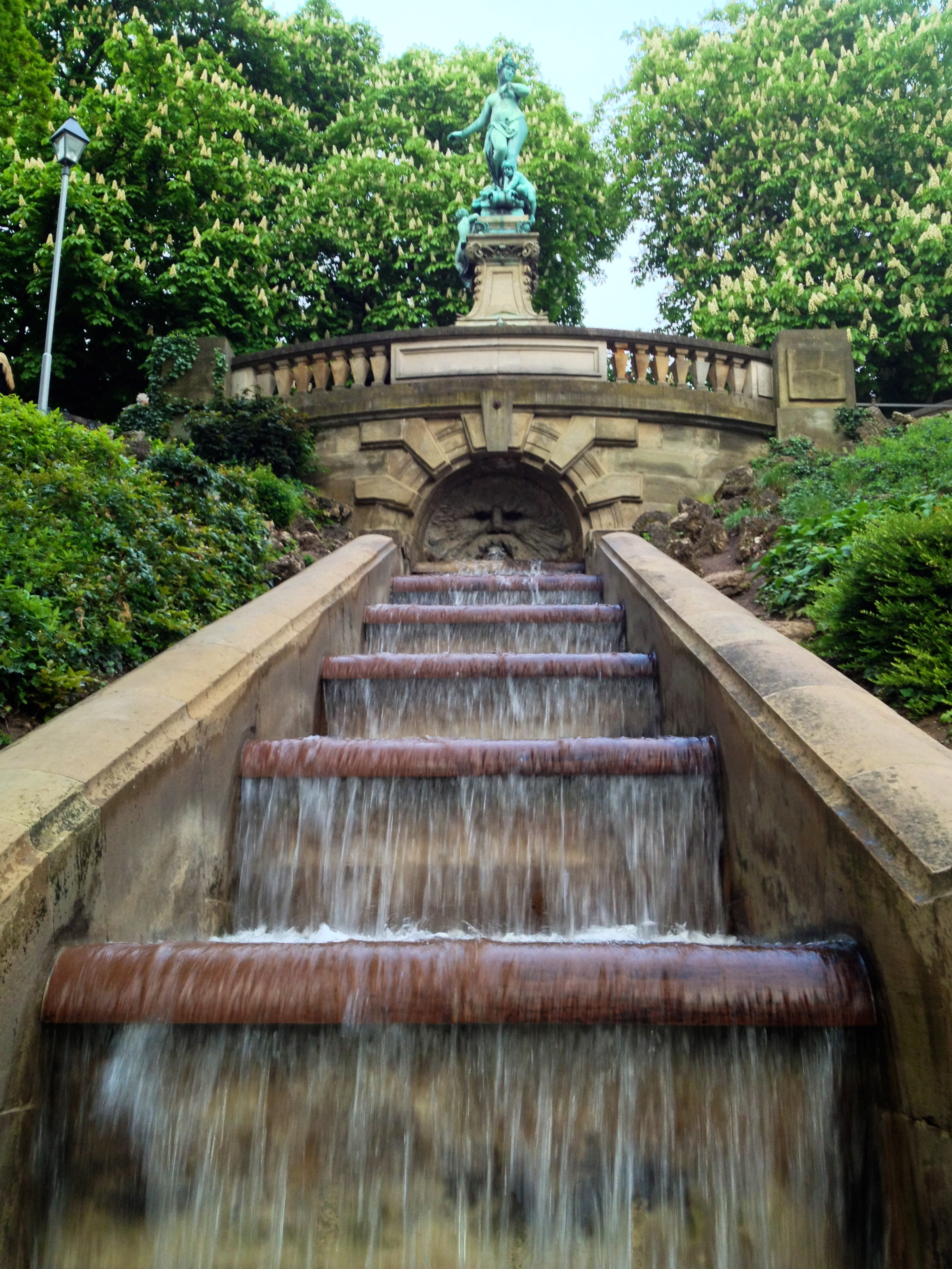 The lower part of the fountain