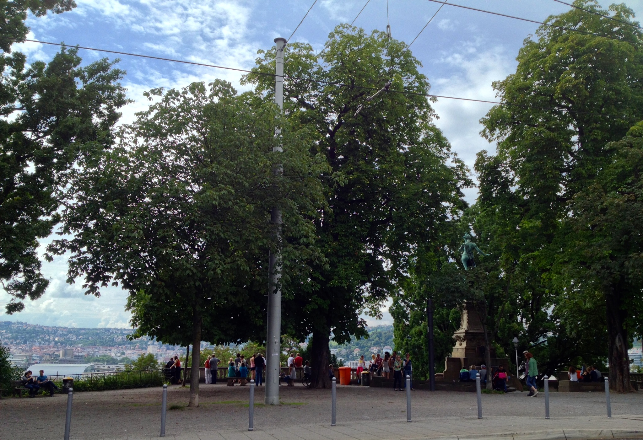 Eugenplatz across from Eis-Bistro Pinguin with a gorgeous view over the city