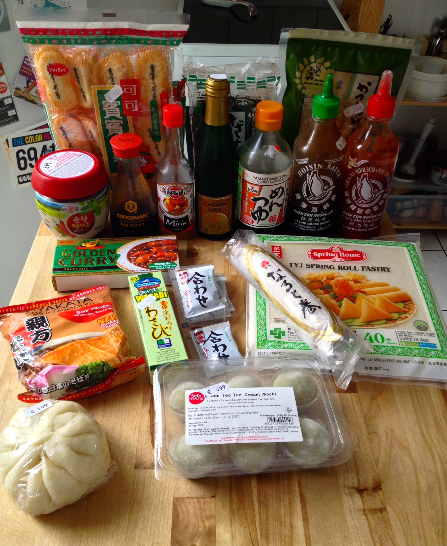 Ingredients from my local Asian market