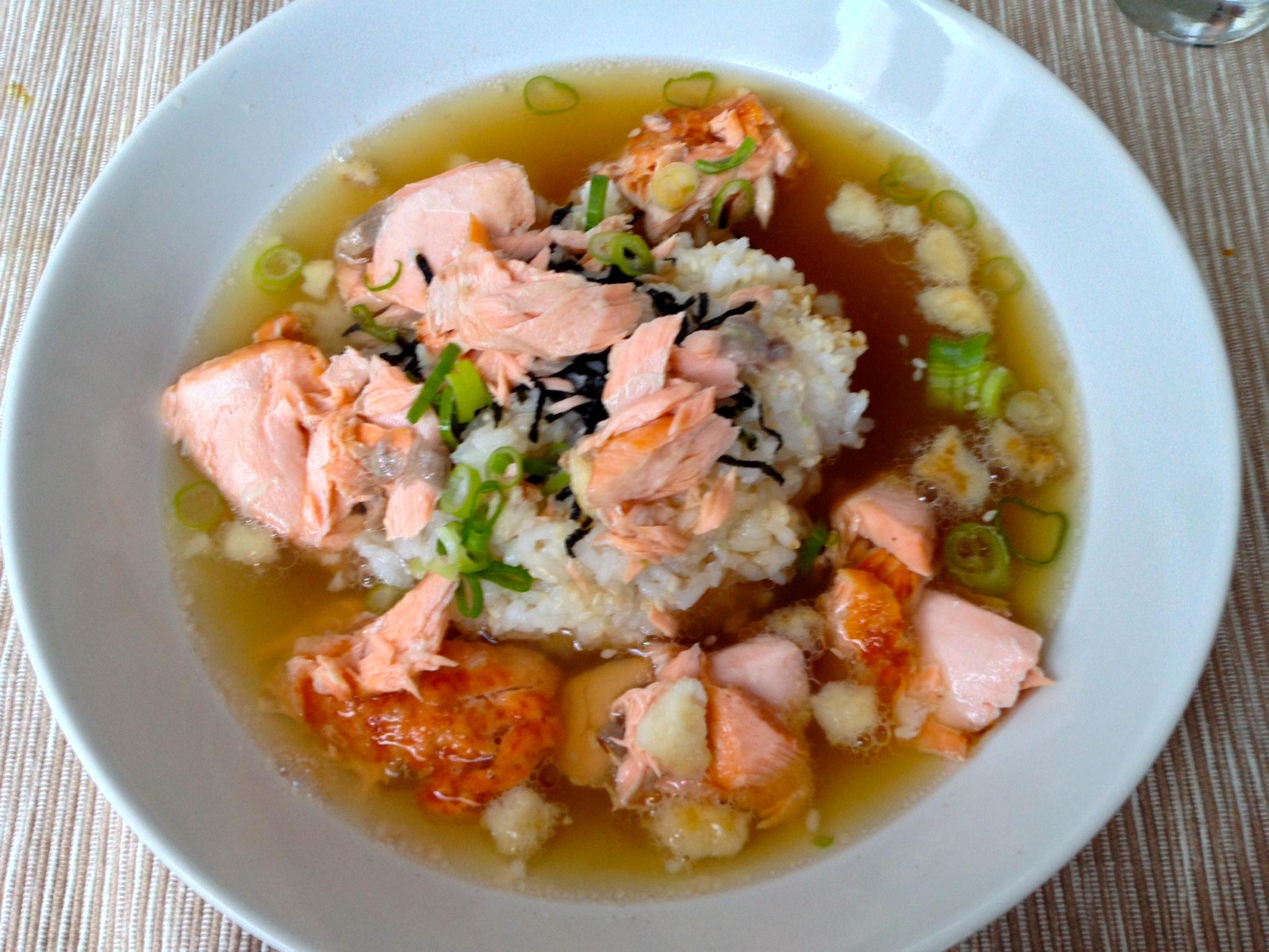 My attempt at ochazuke (recipe from justonecookbook.com)