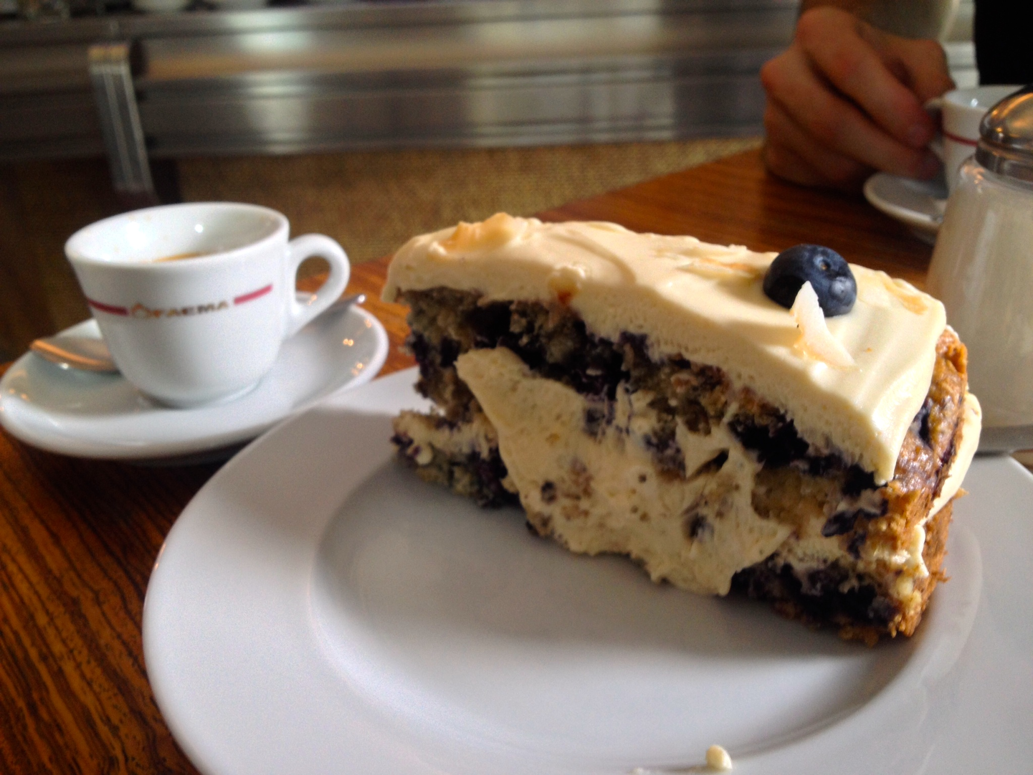 Coffee and cake from  Caffè Leidenschaft