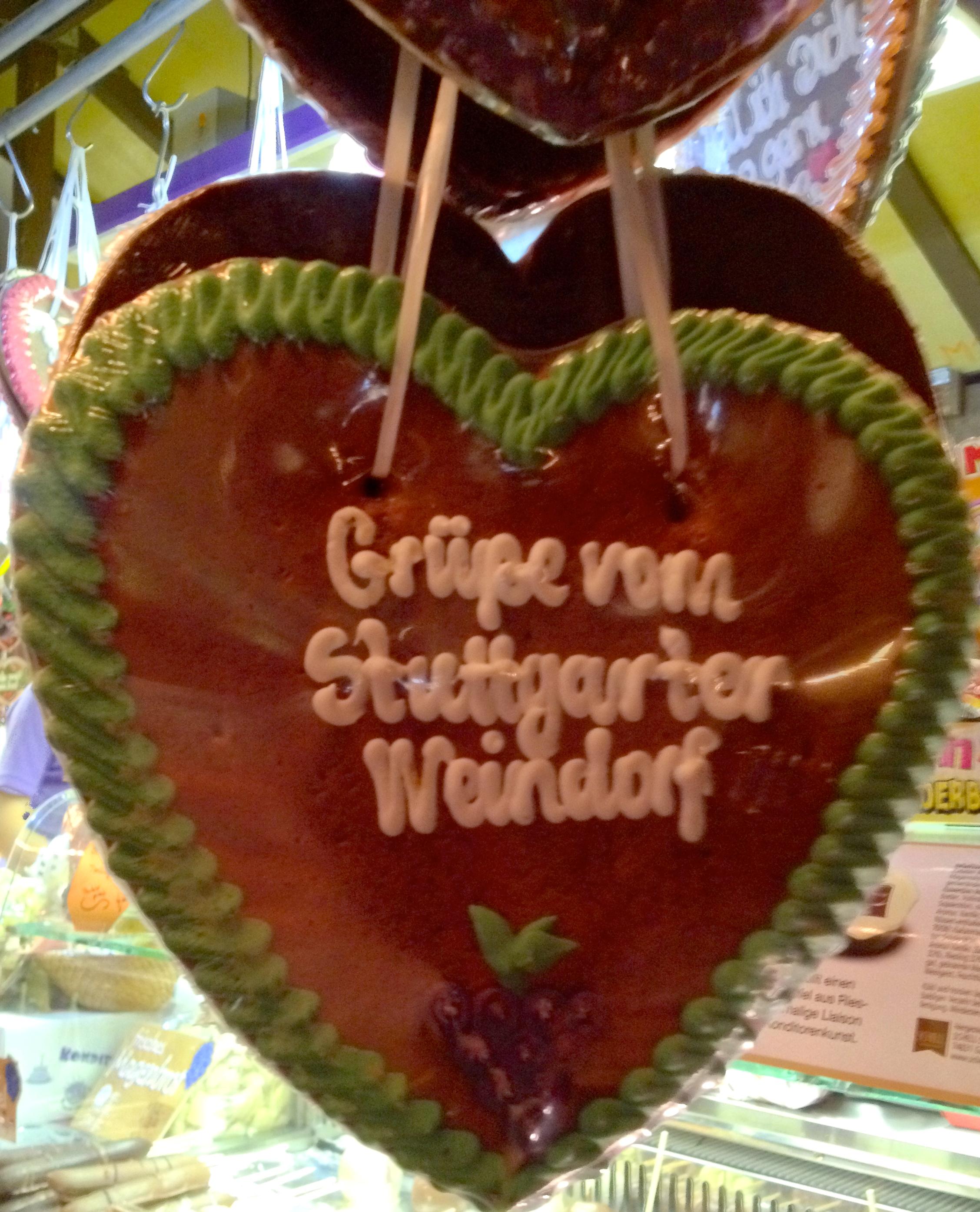 A decorated Lebkuchen heart