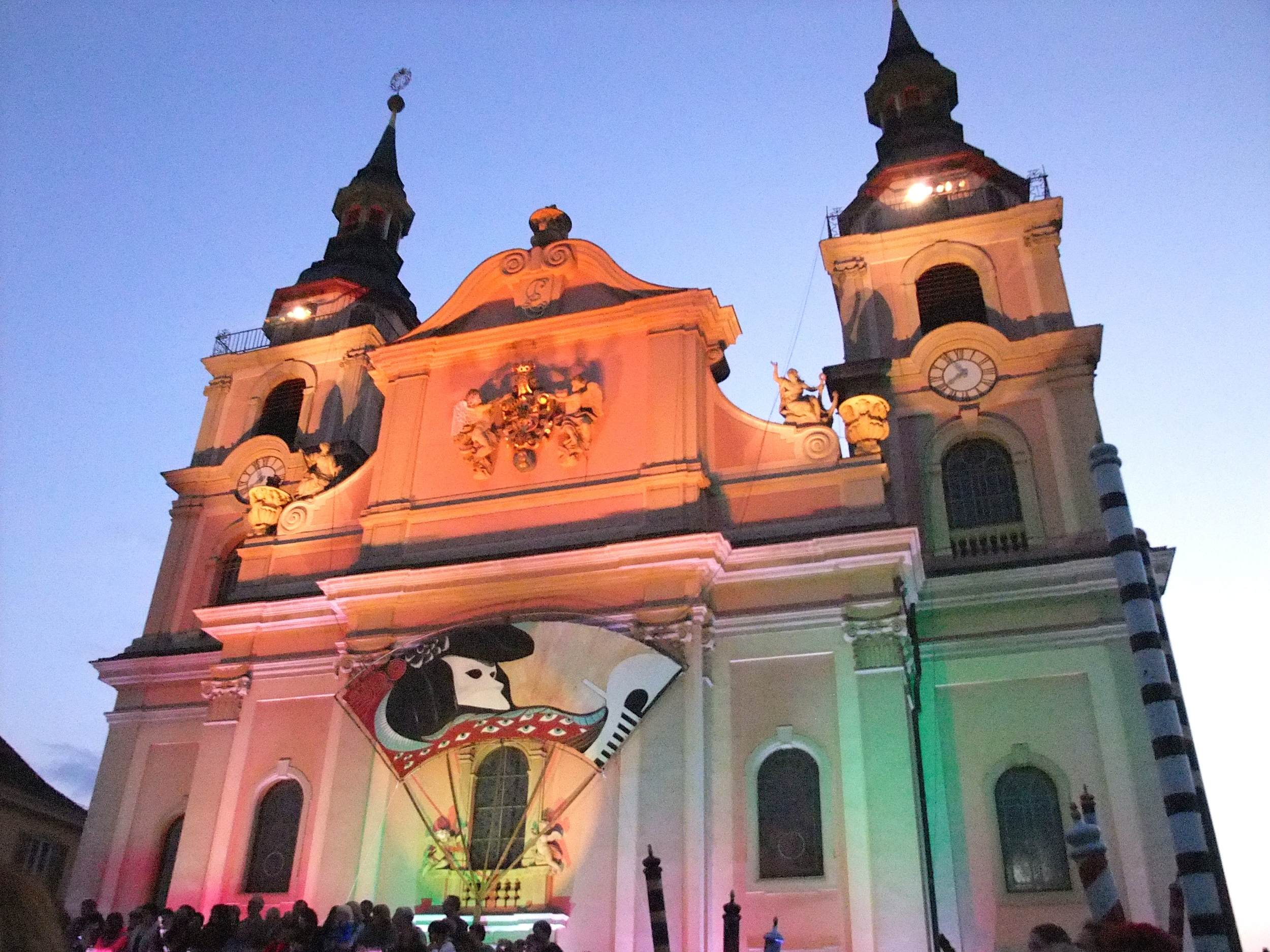 Stadtkirche  Ludwigsburg all decked out for the festival