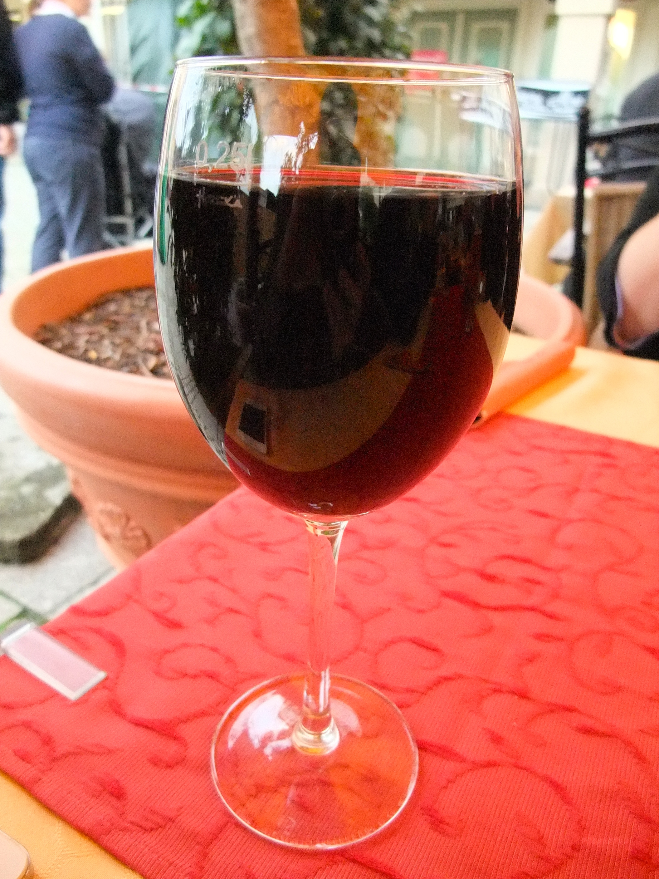 My huge glass (0,25L) of chianti