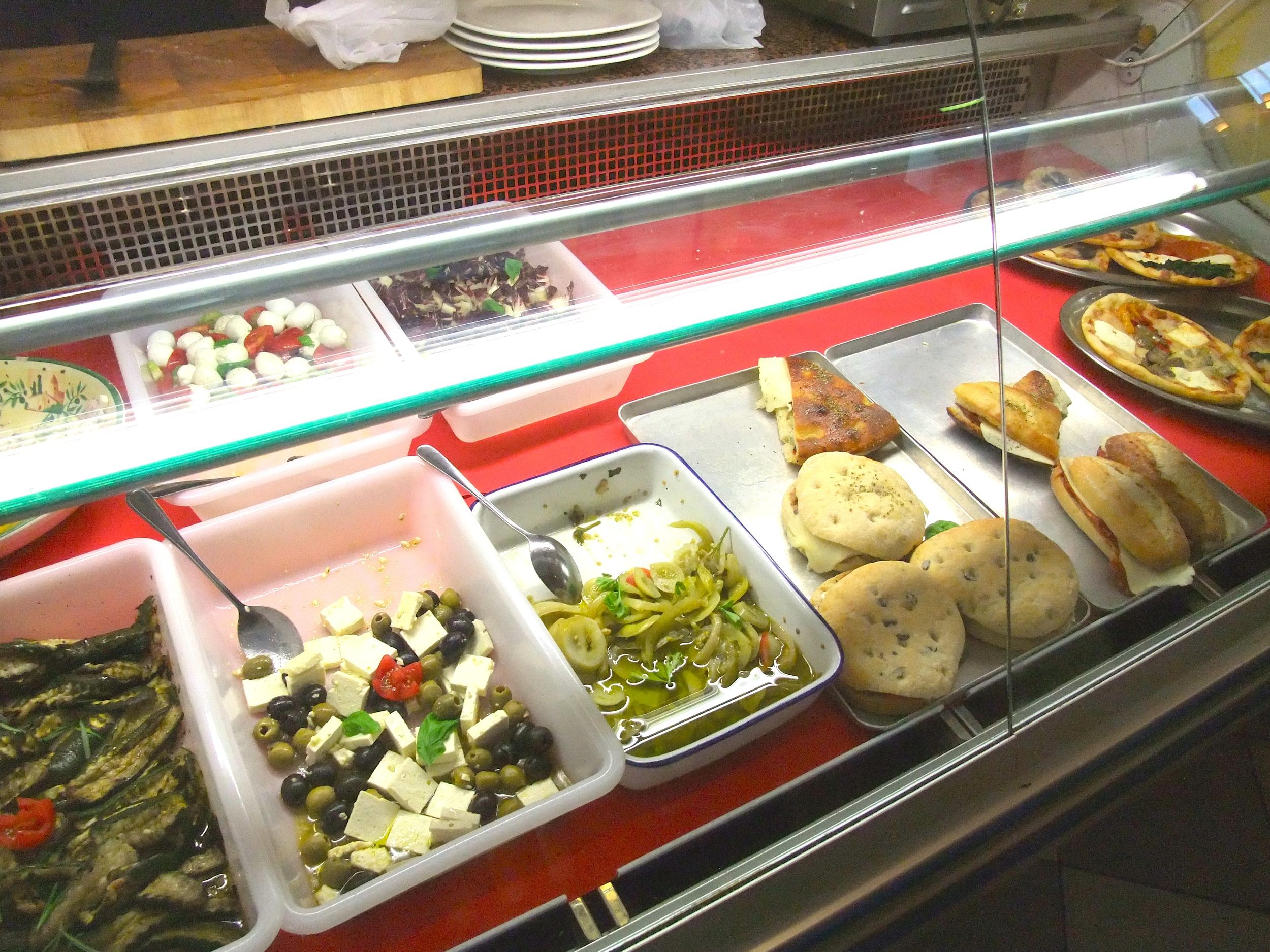 The food case inside Divino