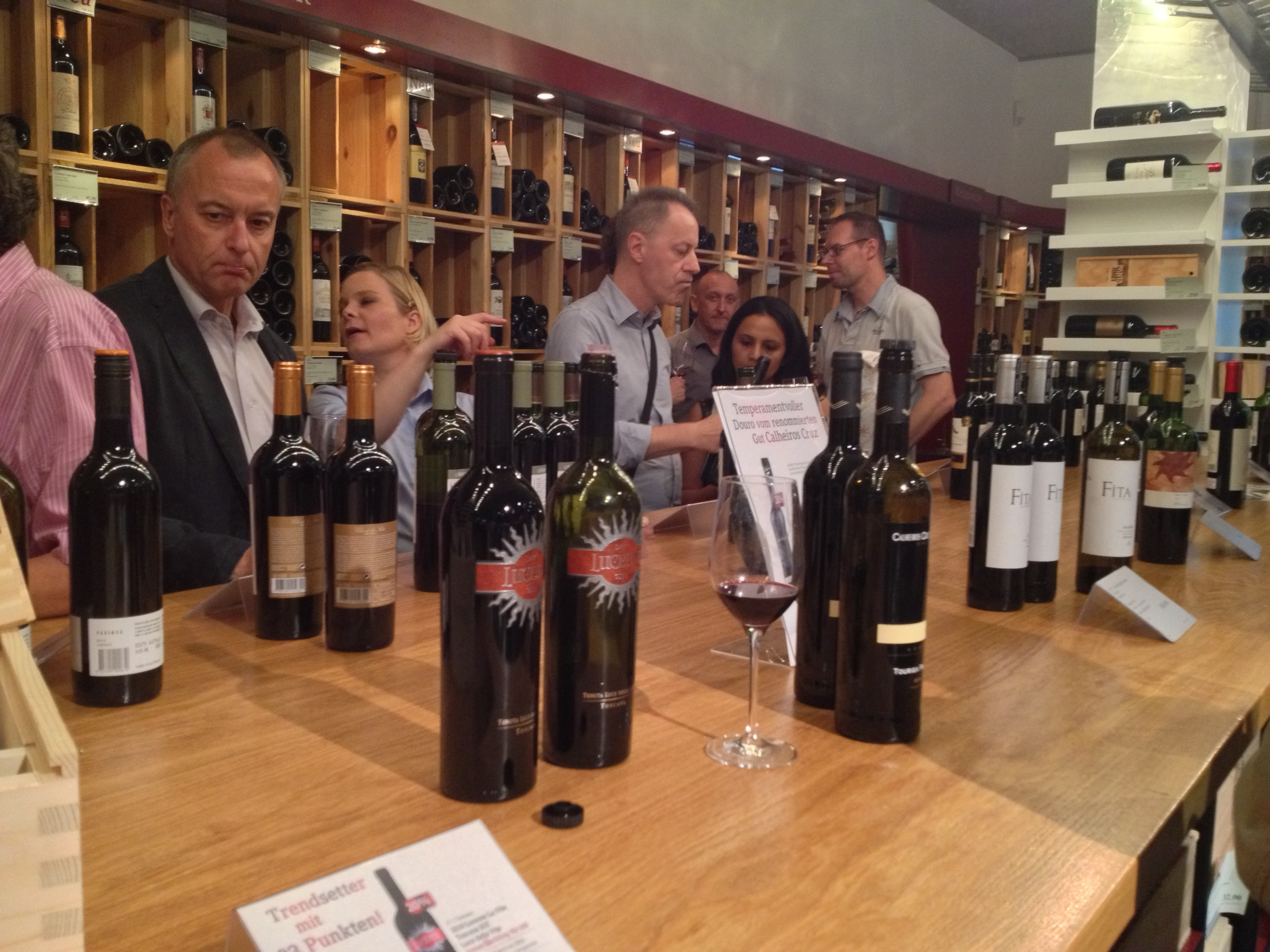 Tasting the reds