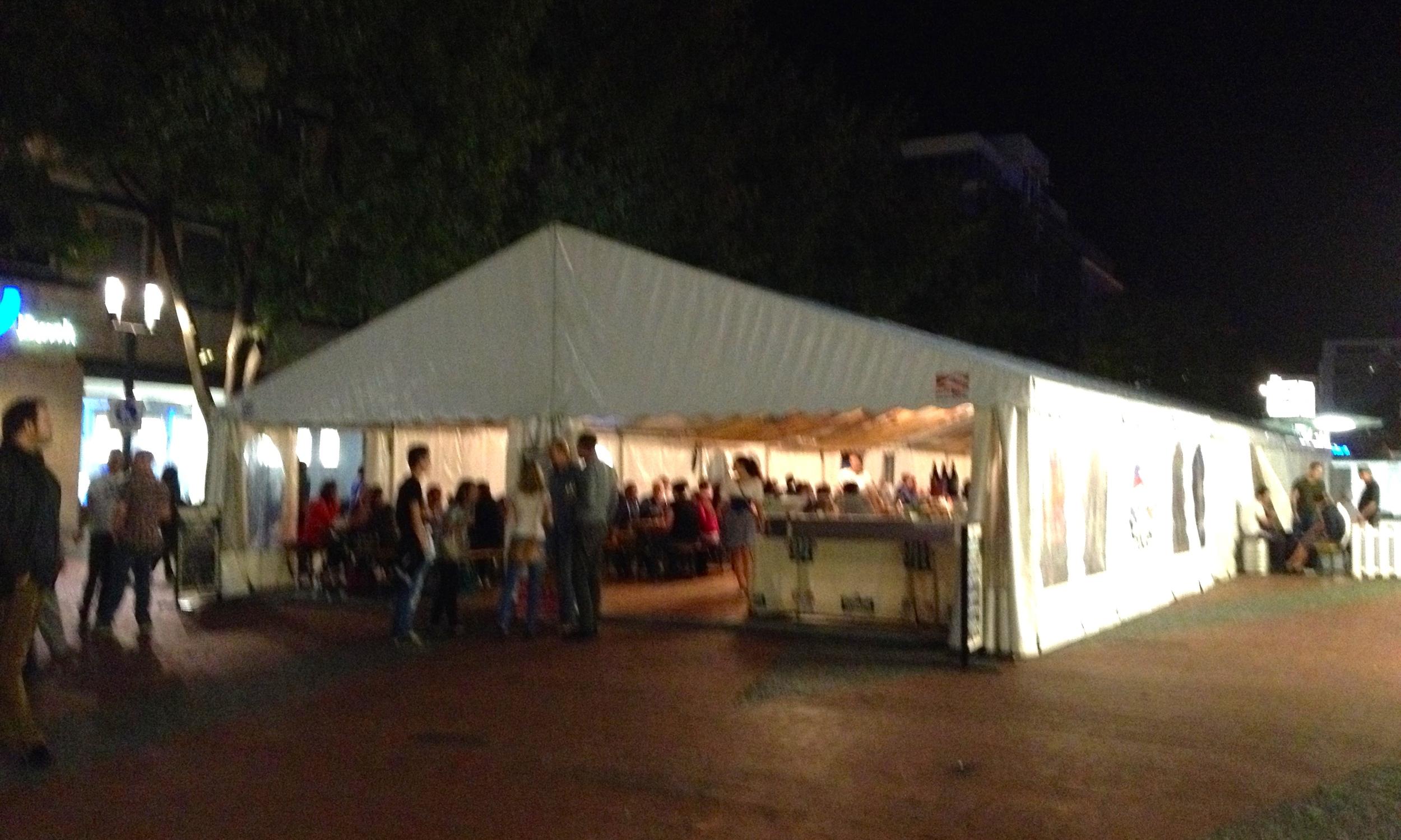 The Czech Beer Festival tent in Kronprinzplatz