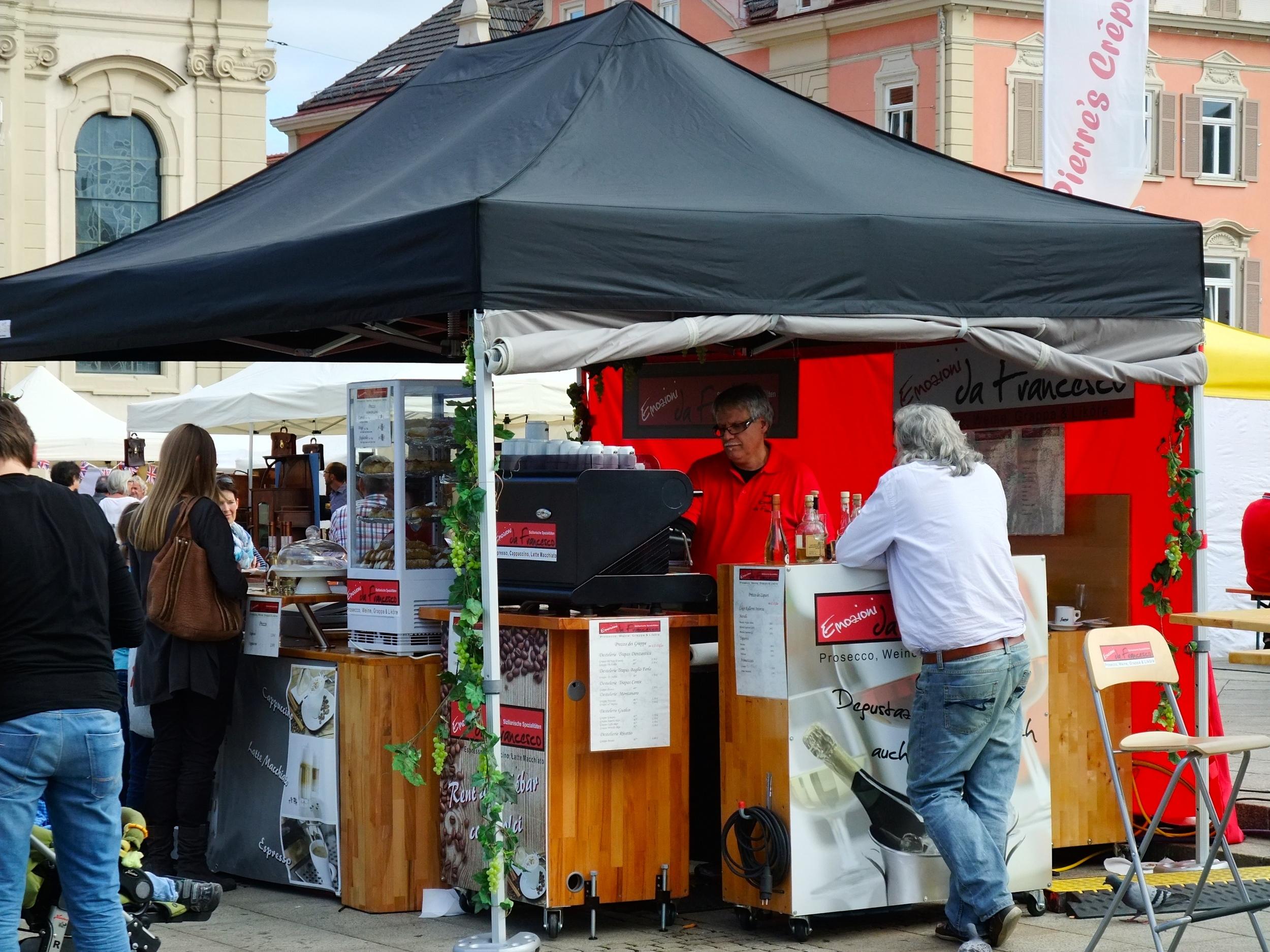 Italian espresso stand