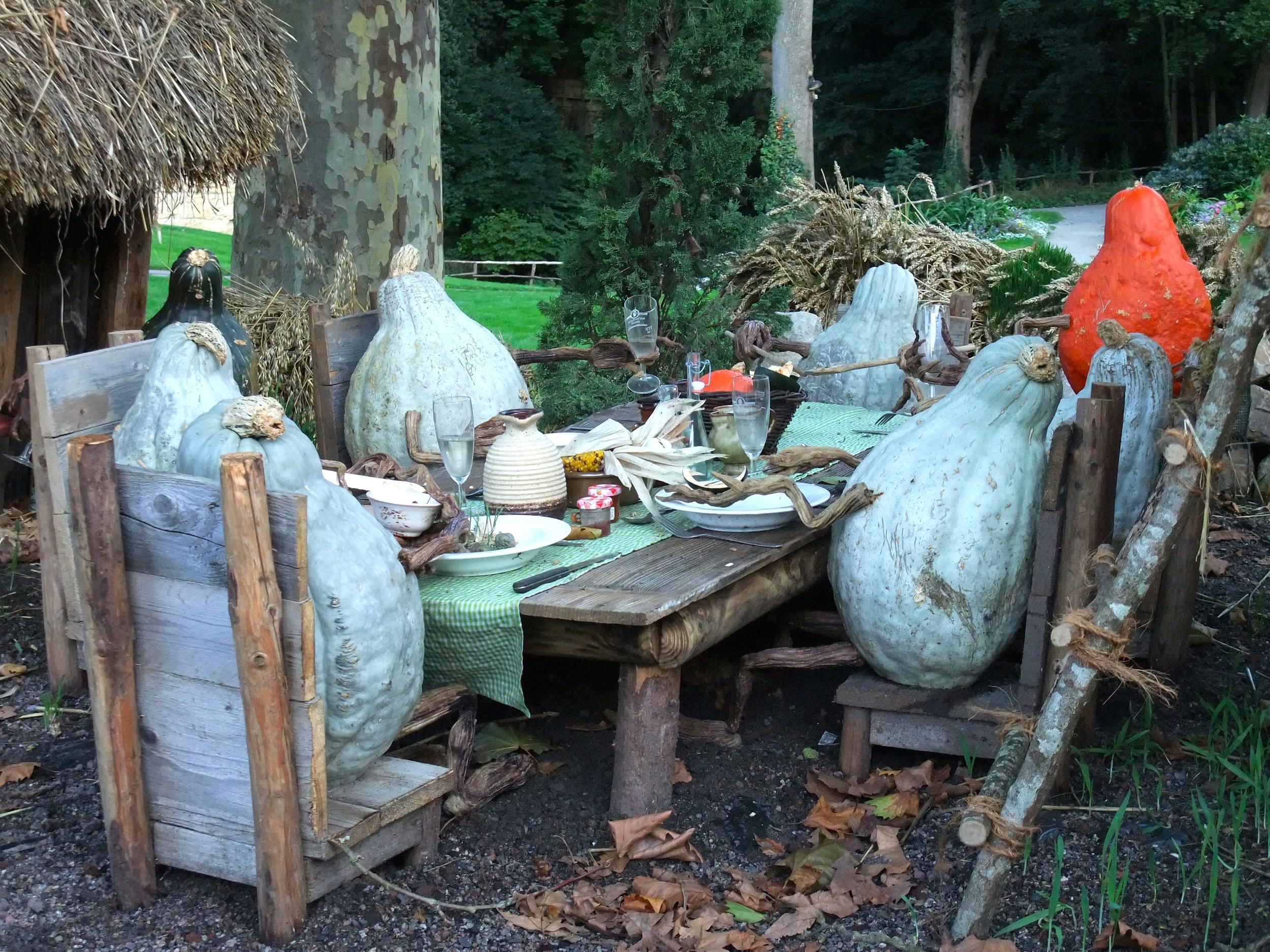 Gourds enjoying dinner
