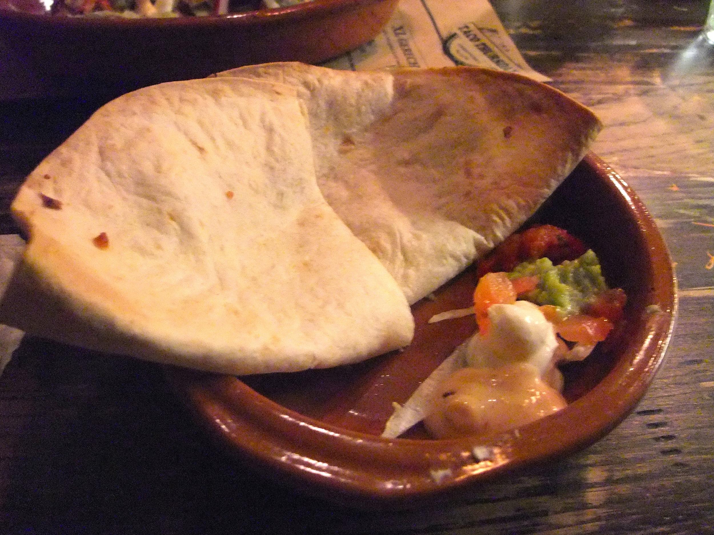 Cheese quesadillas at Cantina