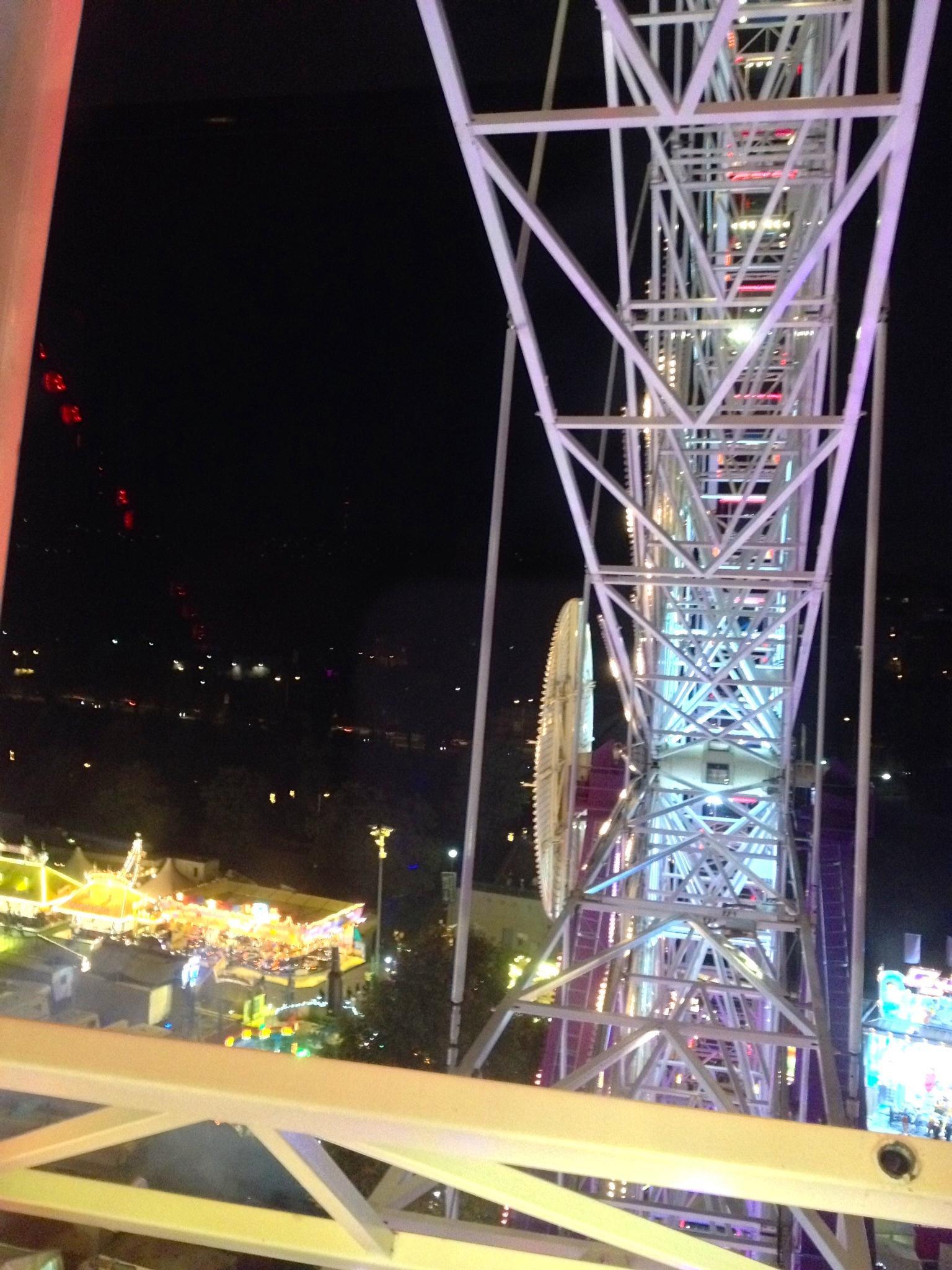 Inside the Ferris wheel