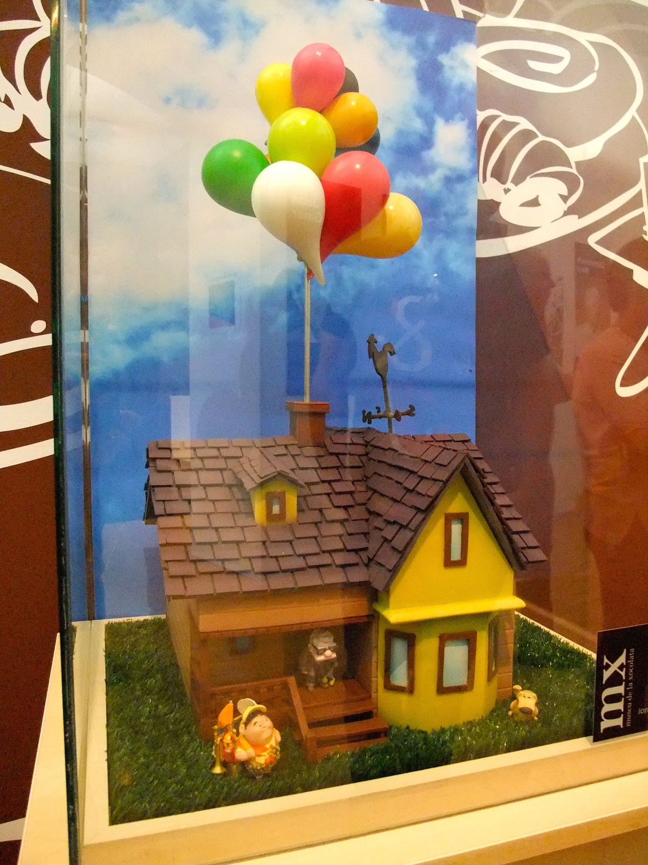 The house in Pixar's Up made out of chocolate