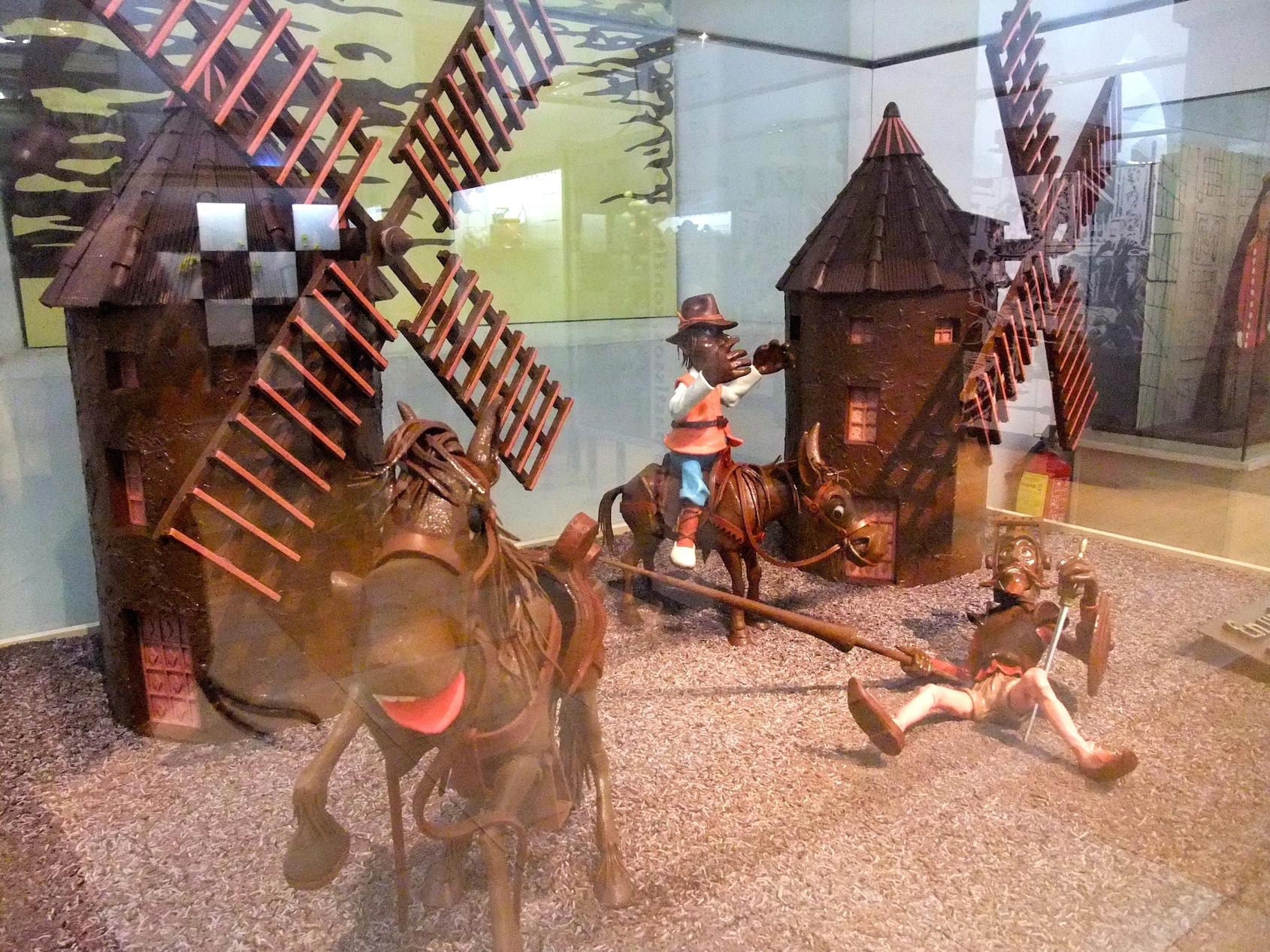 Don Quixote in chocolate