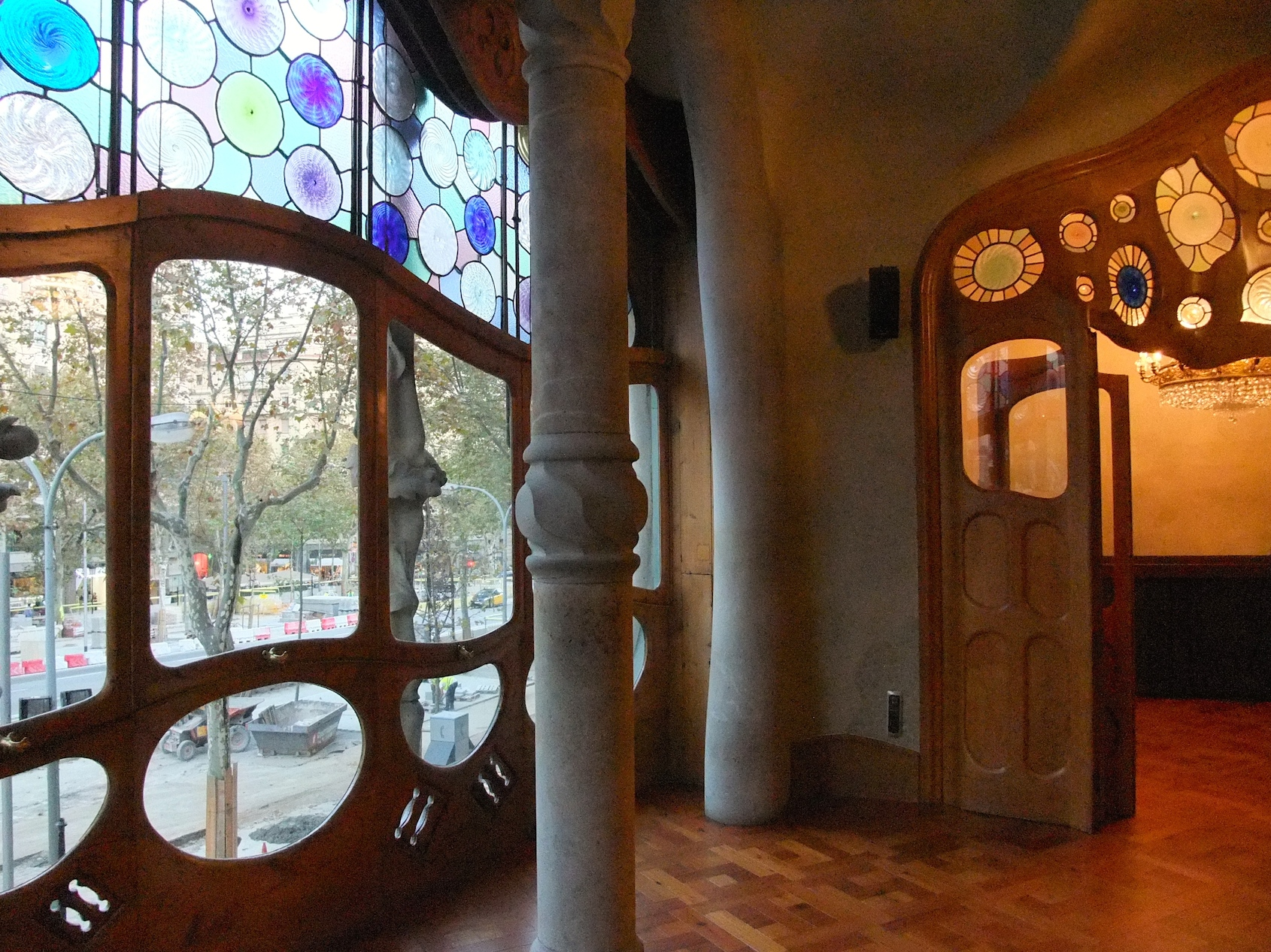 The living room inside Casa Batlló