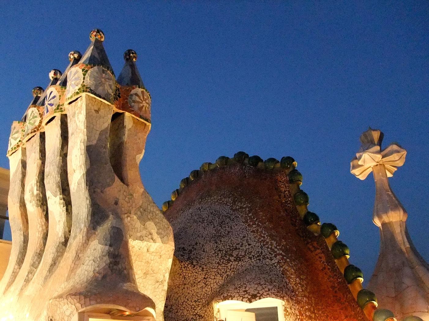 The roof of Casa Batlló