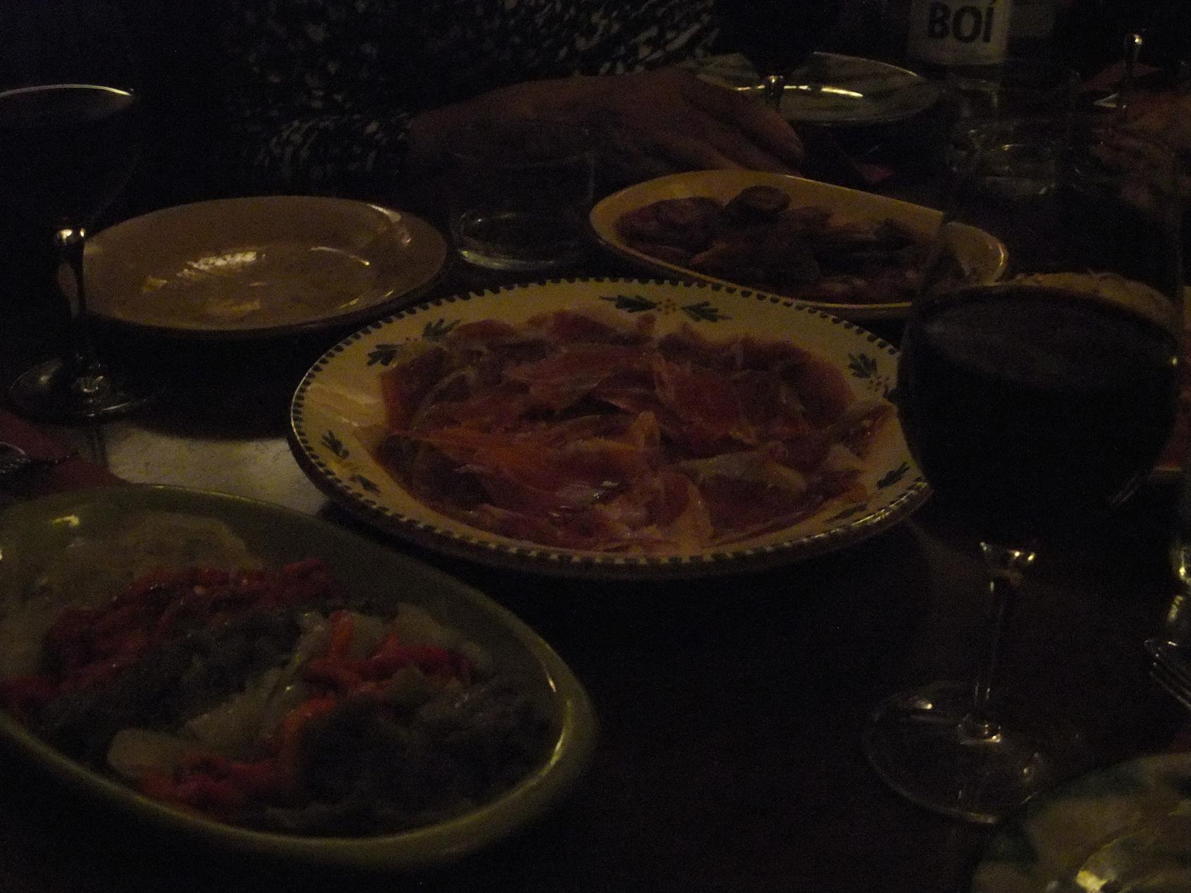 Meat platter at  La Vinateria del Call