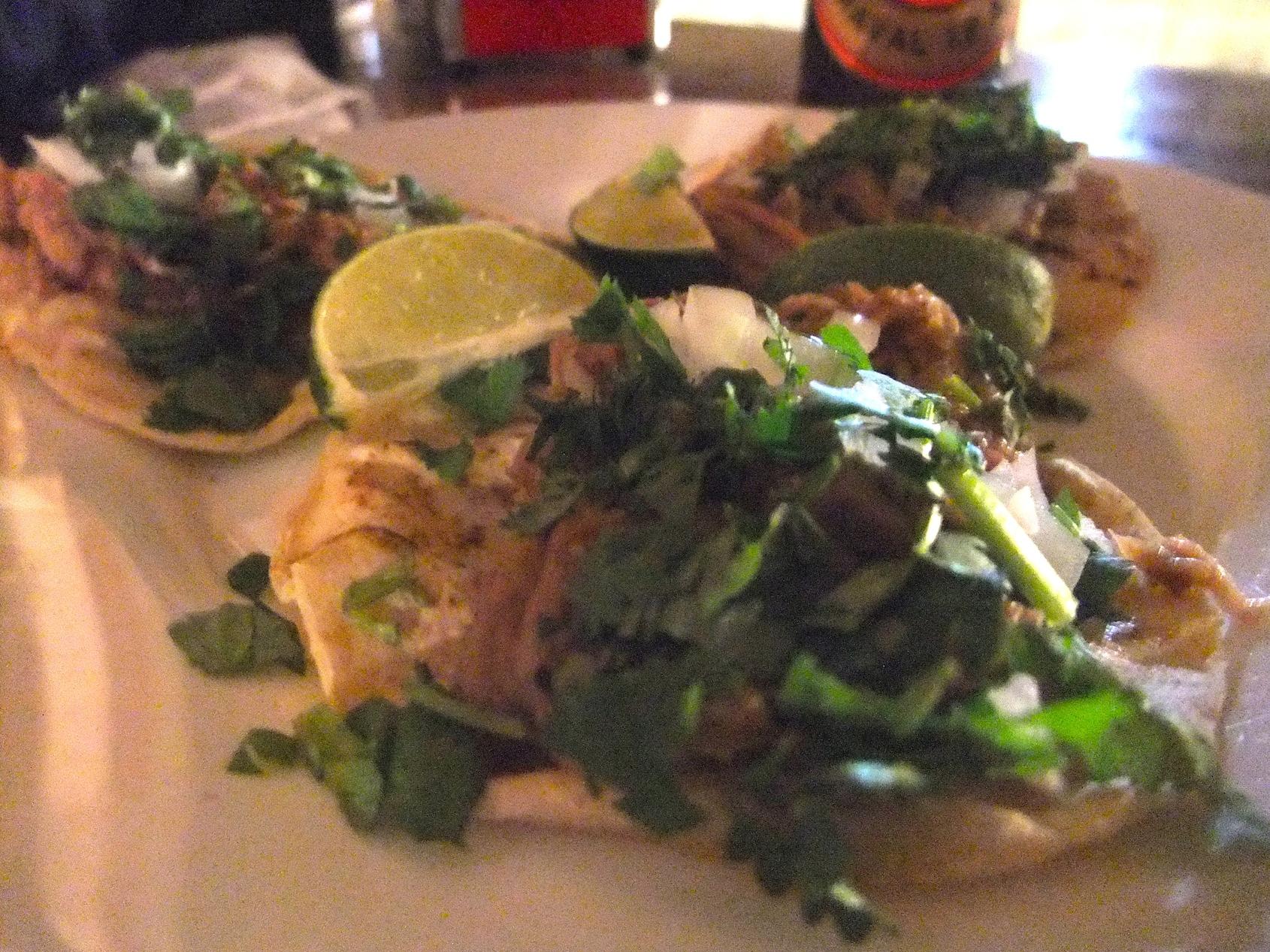 Carnitas tacos at  El Pachuco