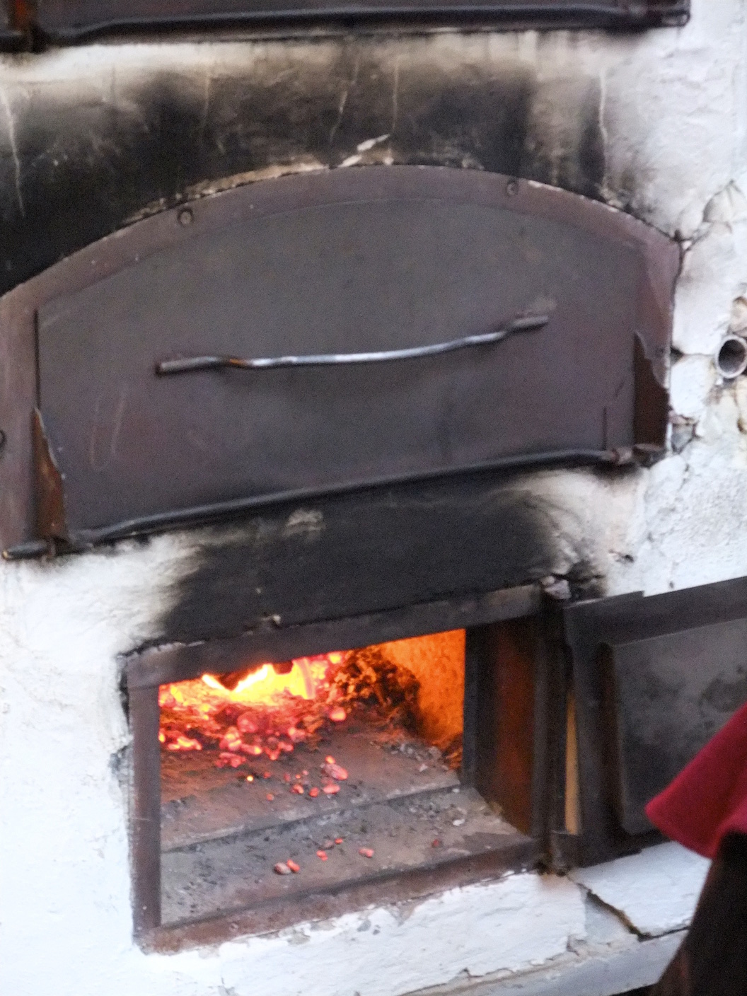 The wood fired oven that my  Flammkuchen  was cooked in