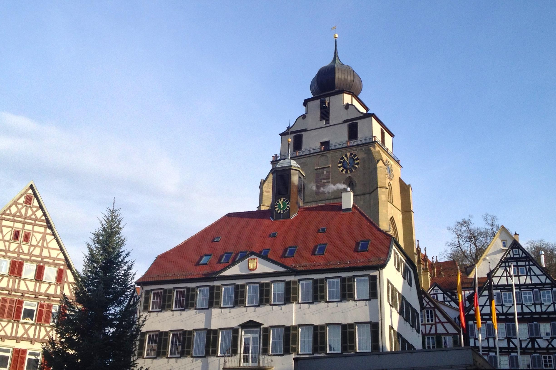 The town center of Herrenberg