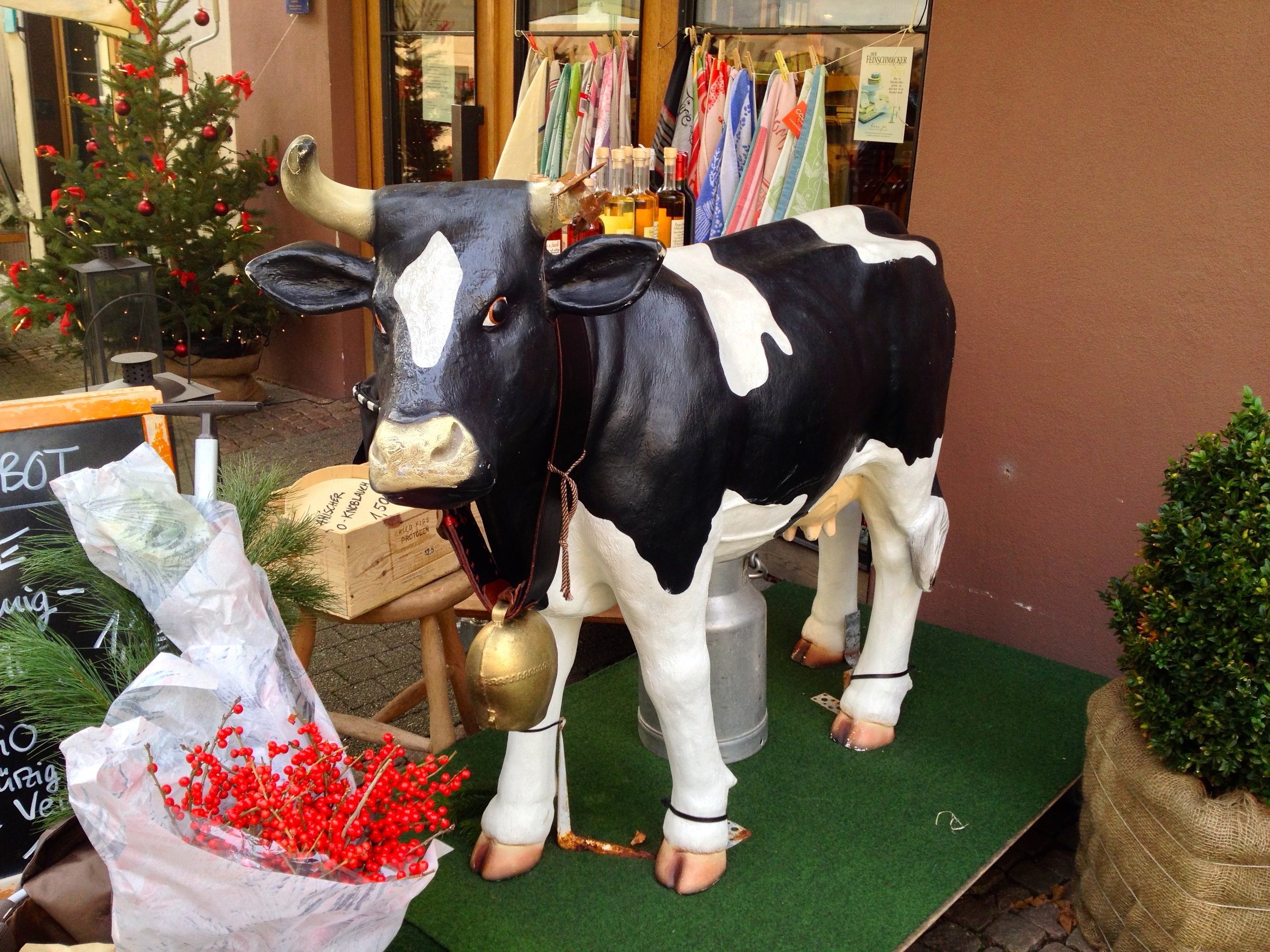 You'll know you're in the right place when you see the cow in front of  Fromagerie Holzapel