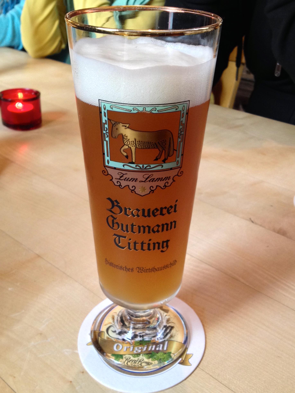 My Weizenbock beer