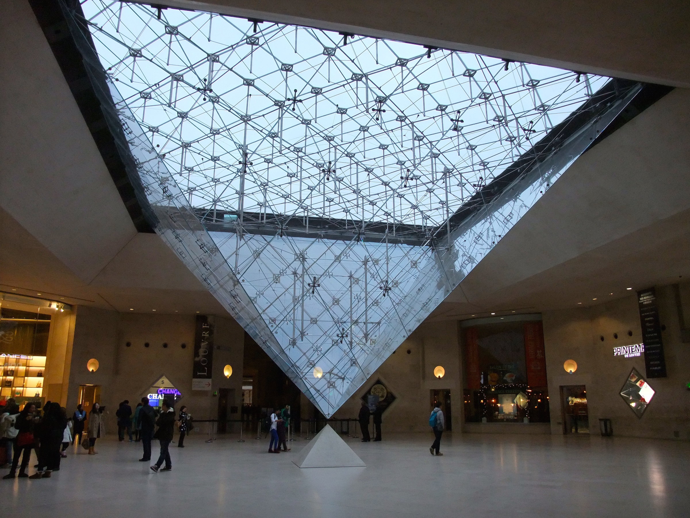 Inside of the shopping center under the  Louvre