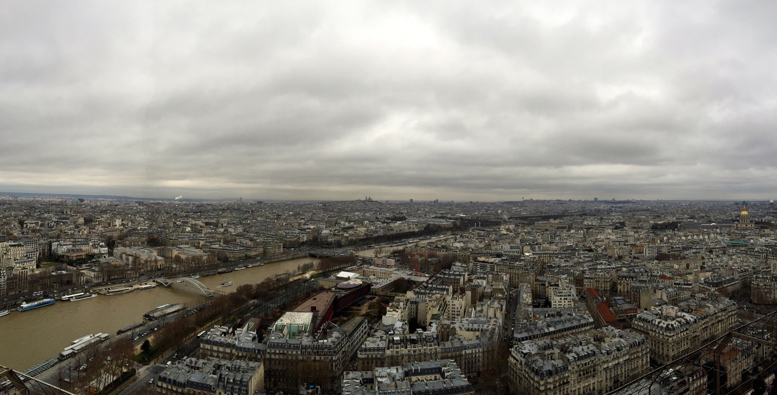 The view from the top of the Eiffel Tower