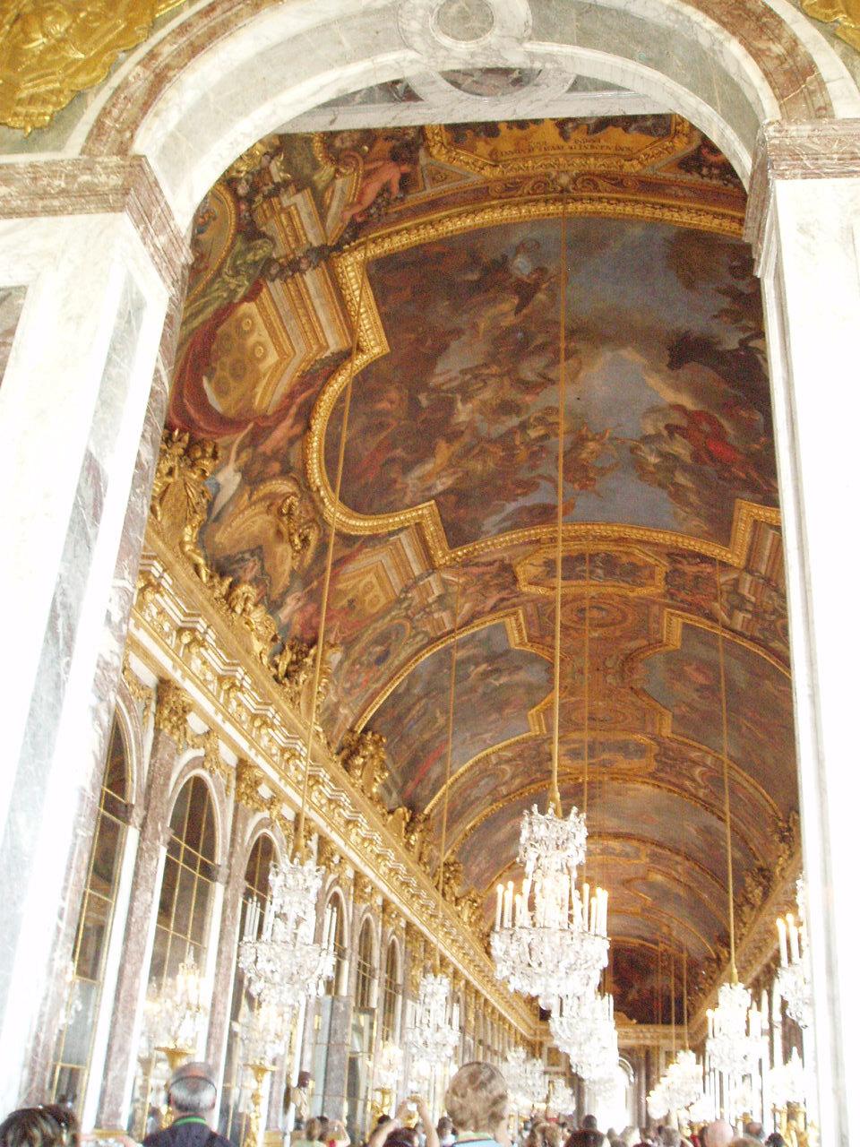 The hall of mirrors inside the Palace of  Versailles