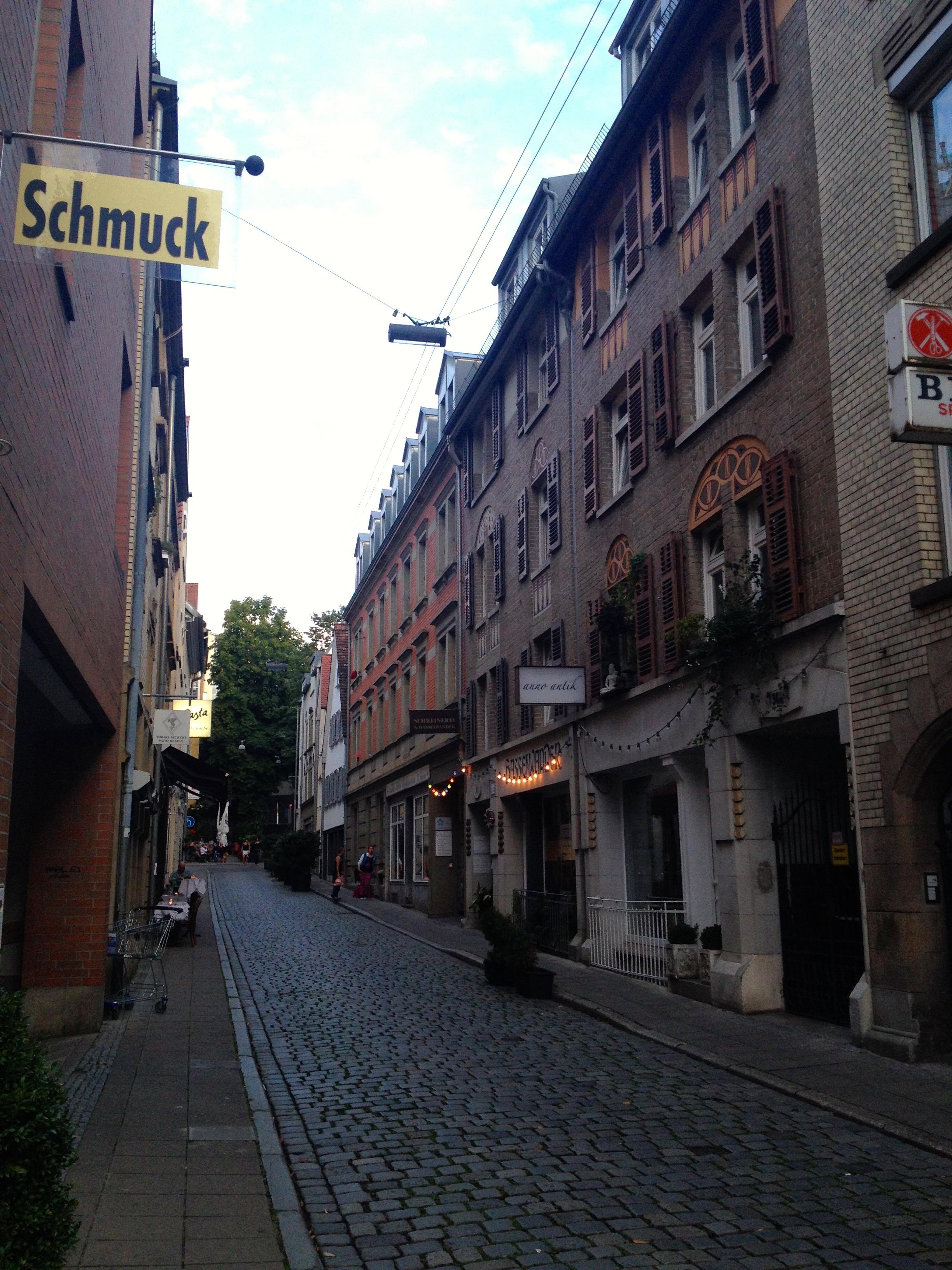 The old Bohnenviertel part of Stuttgart