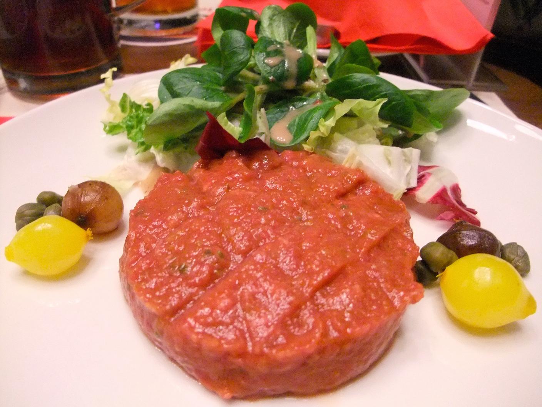 Spicy steak  tartare  at    Zeughauskeller