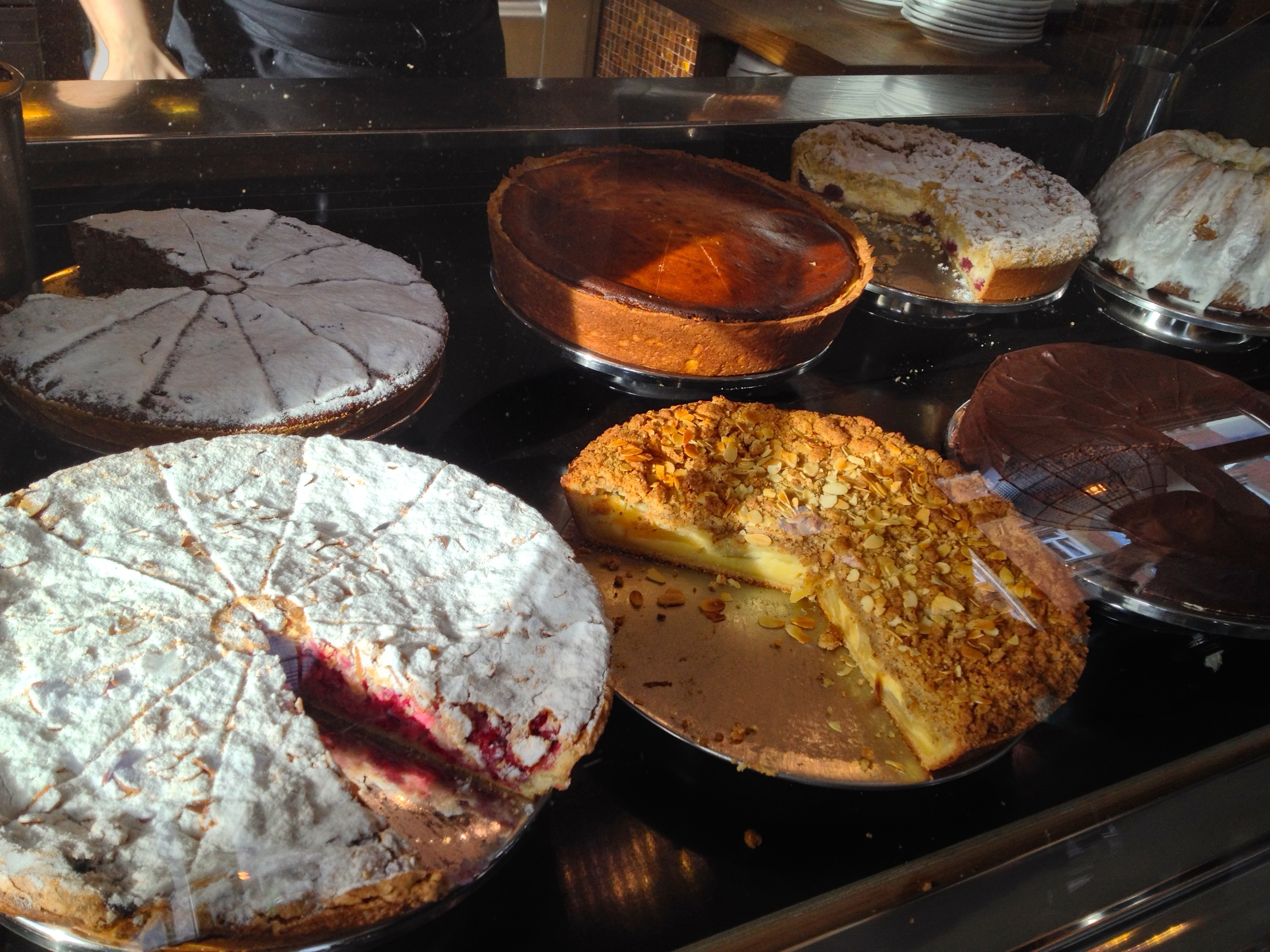 About half of the cakes on display at  Hüftengold