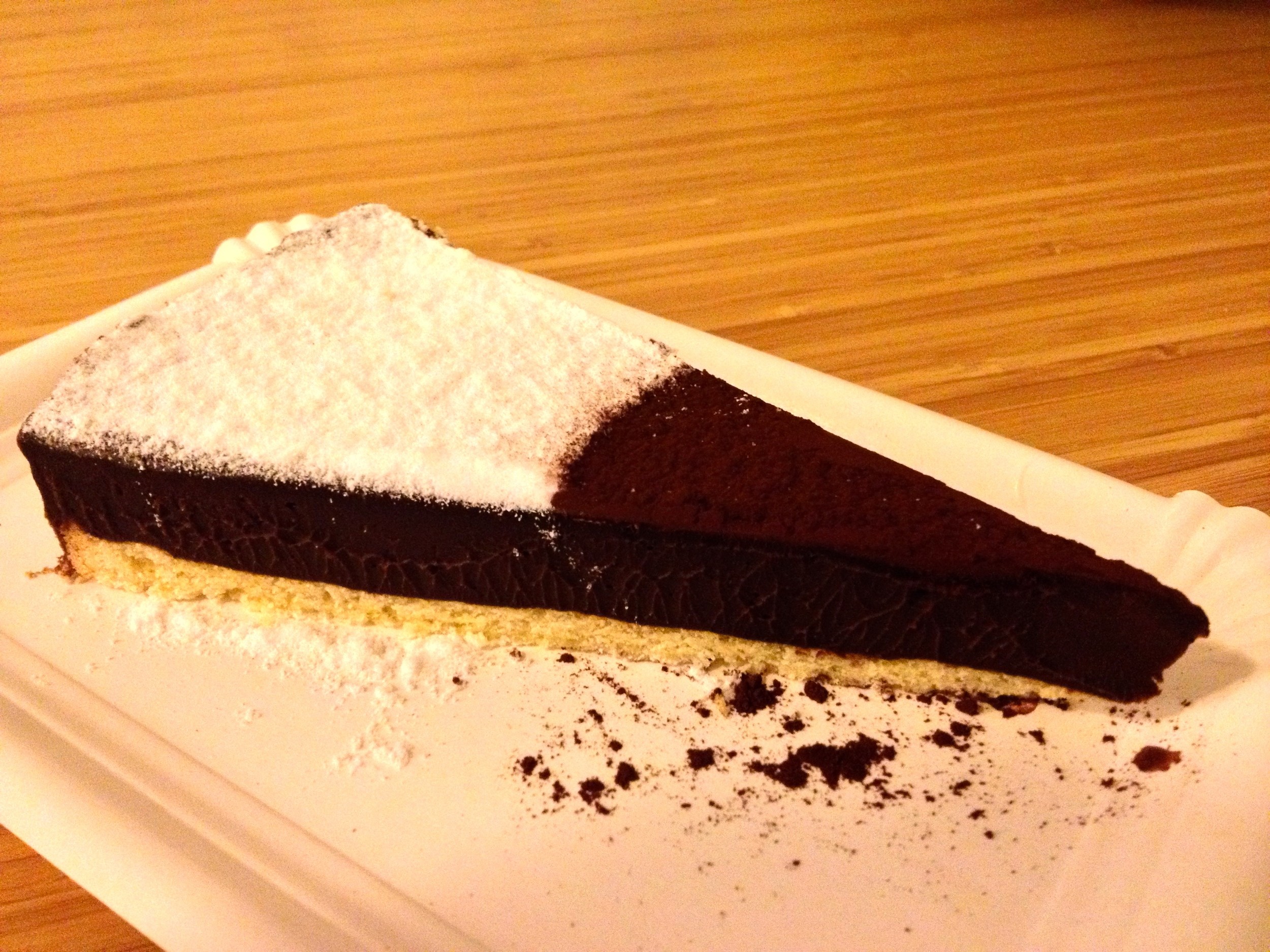 The most delicious truffle cake ever at  Hüftengold