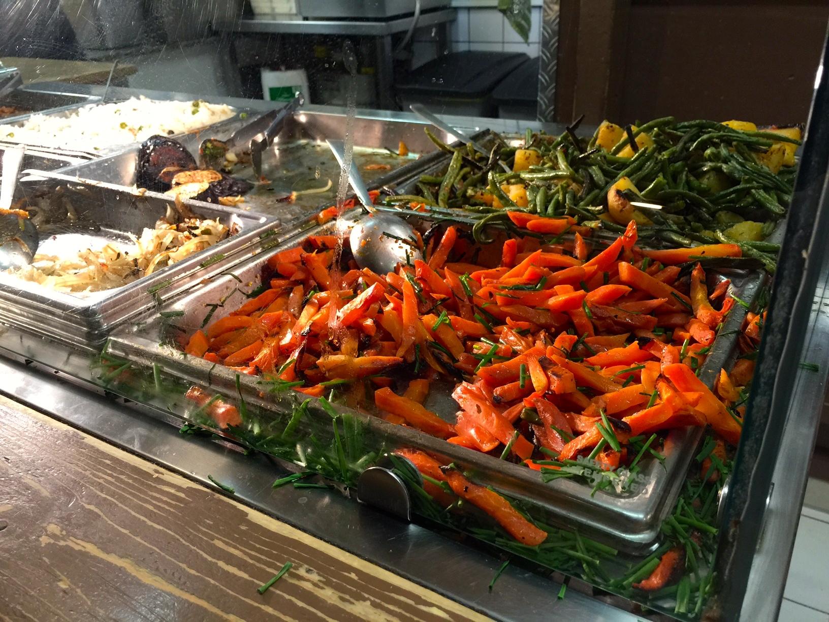 Fresh roasted vegetables at Alaturka