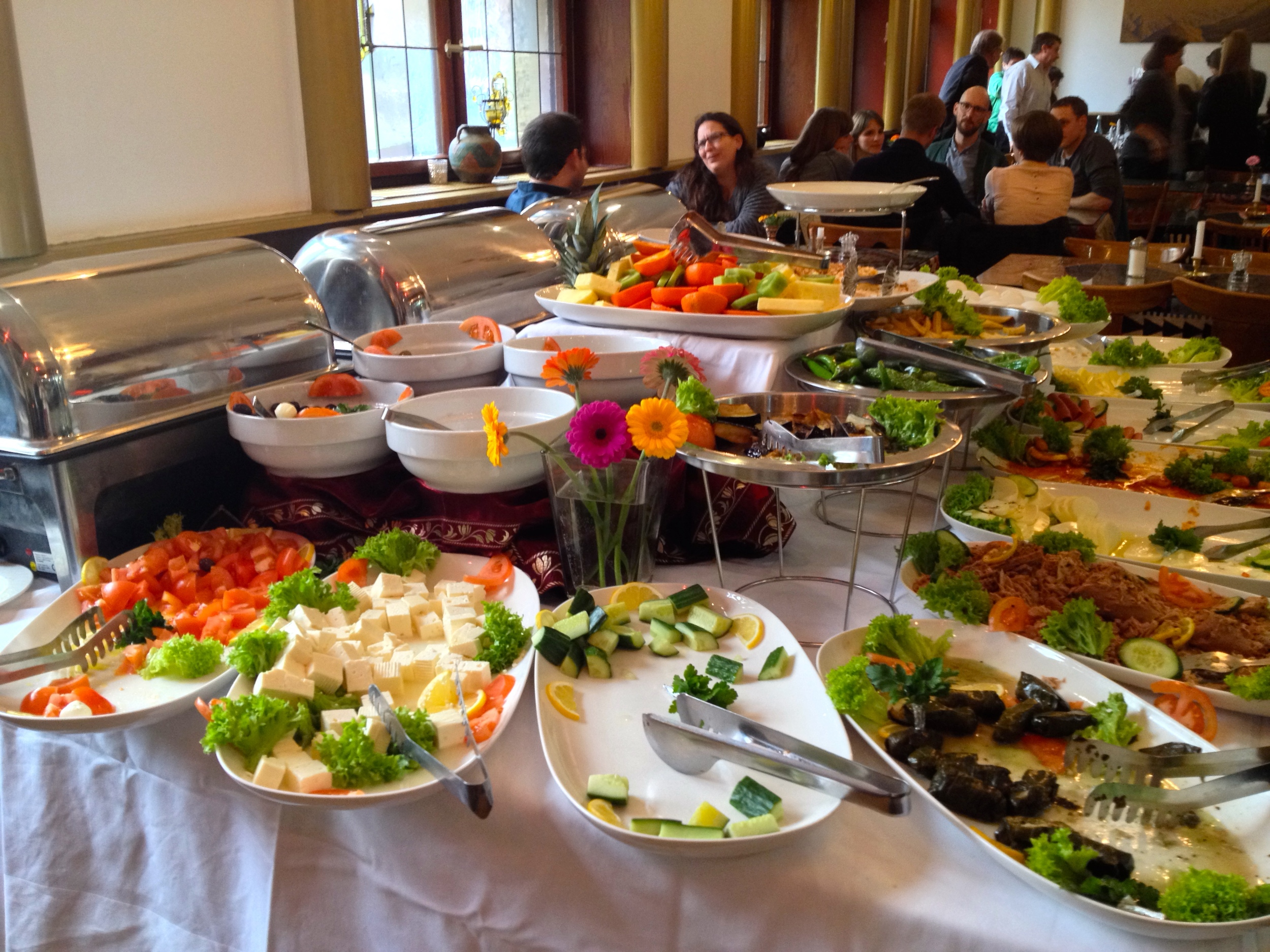 The brunch buffet at Taverna Yol