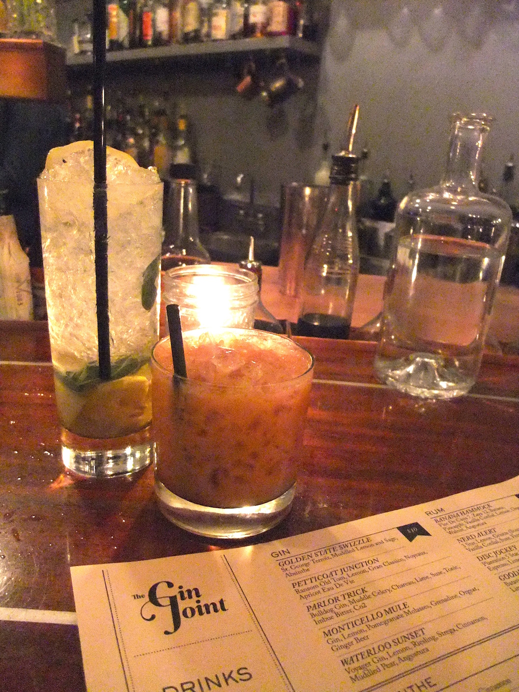 More gin drinks at The Gin Joint