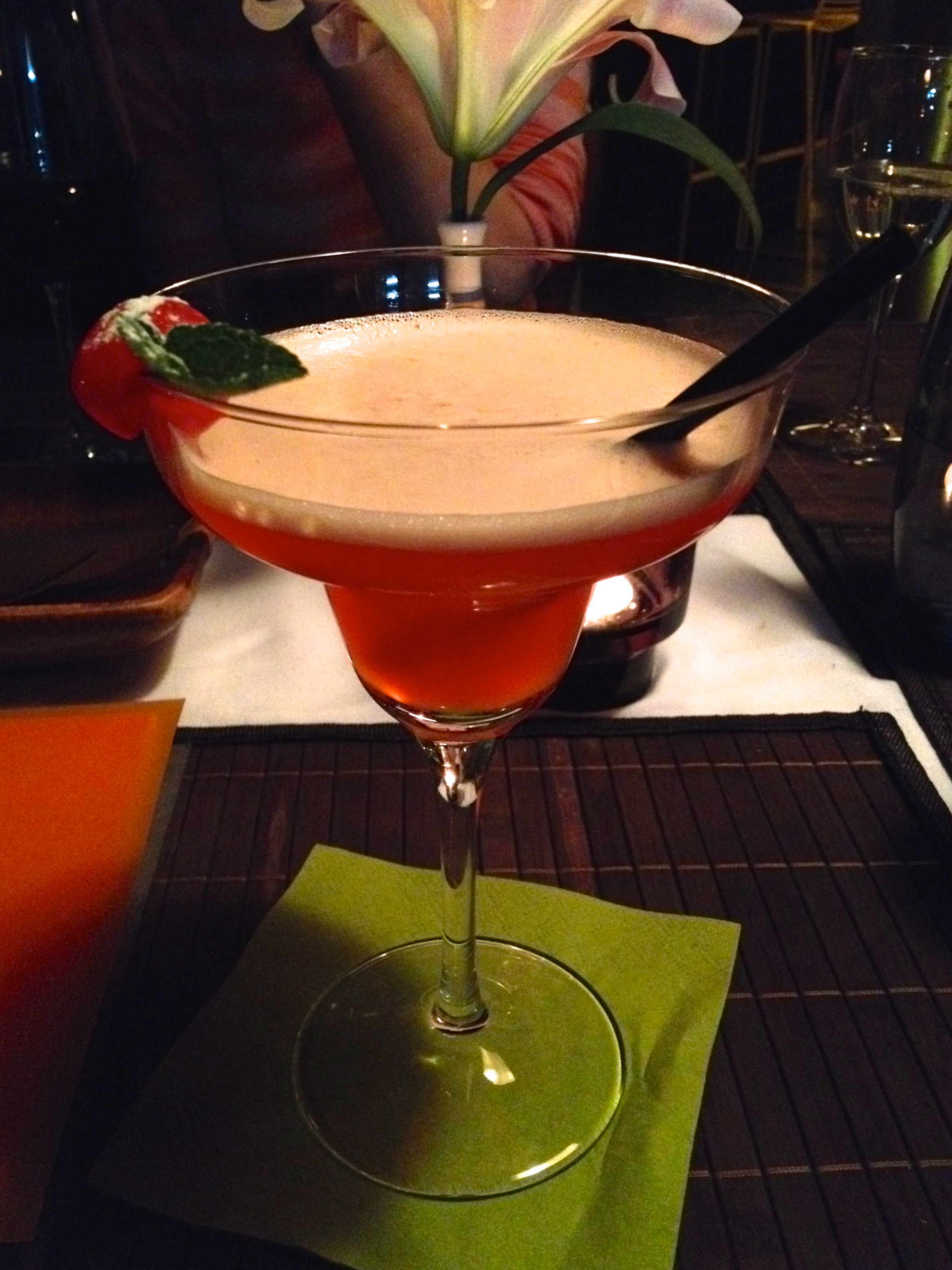 Pink Lychee cocktail