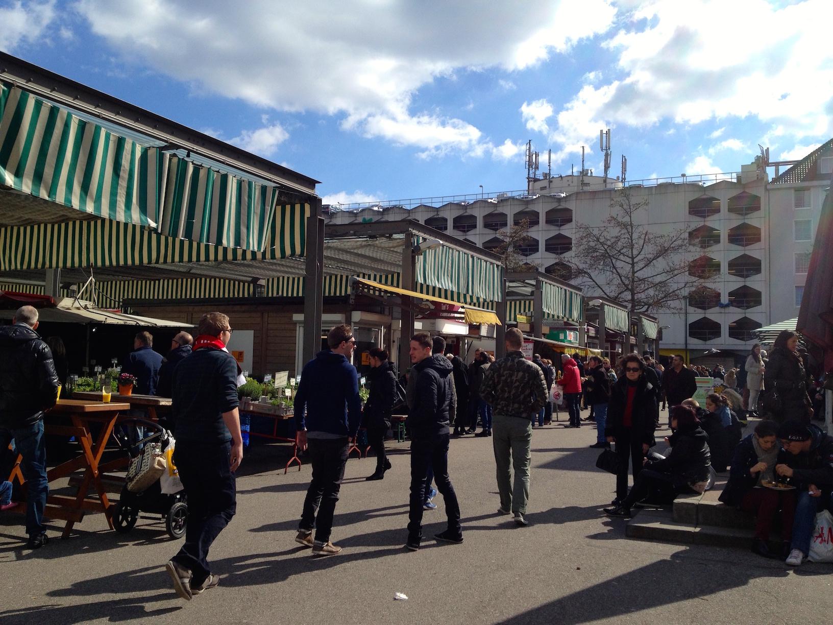 Carlsplatz market on Saturday