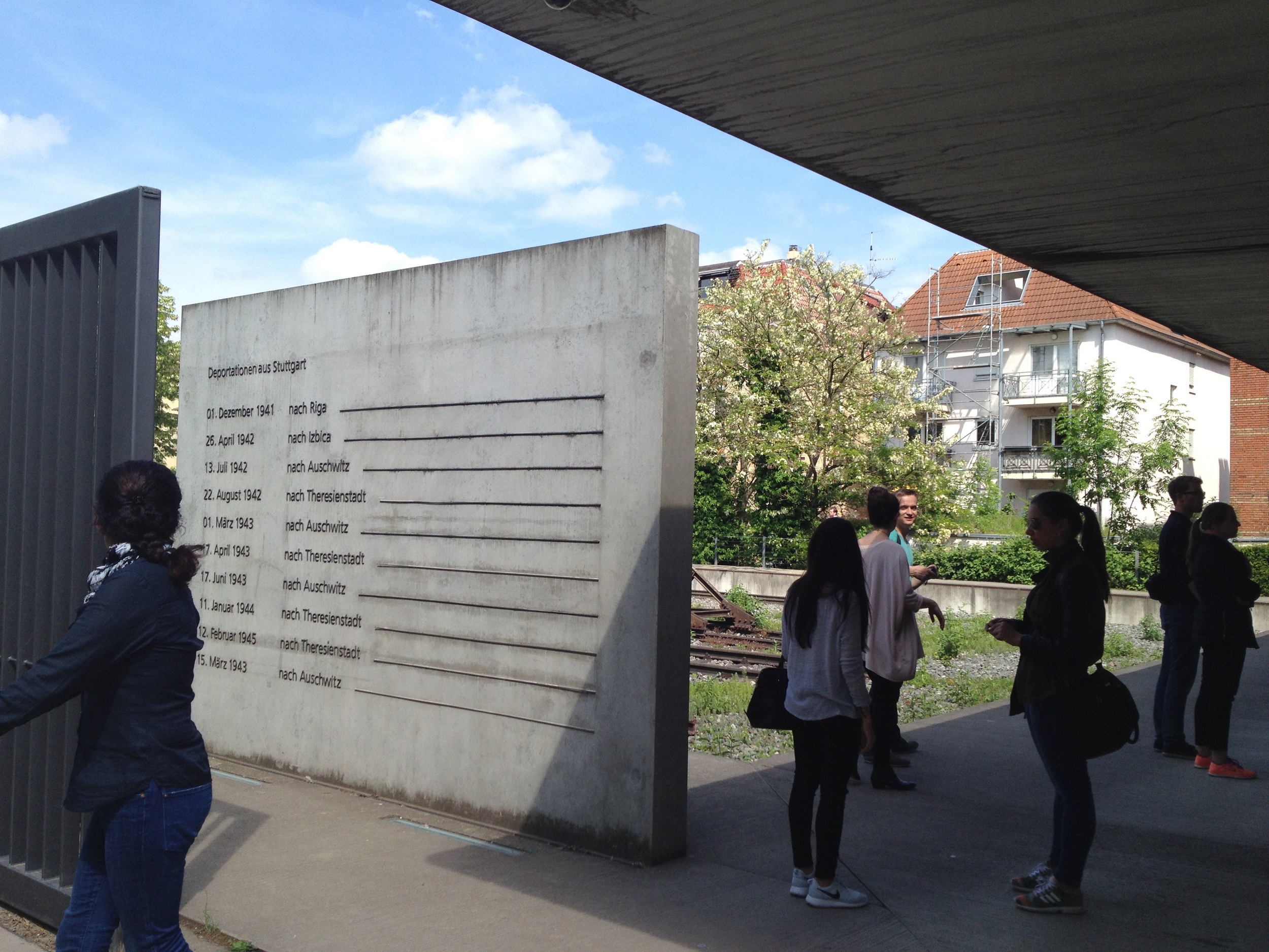 Memorial to the deported Jews of Stuttgart