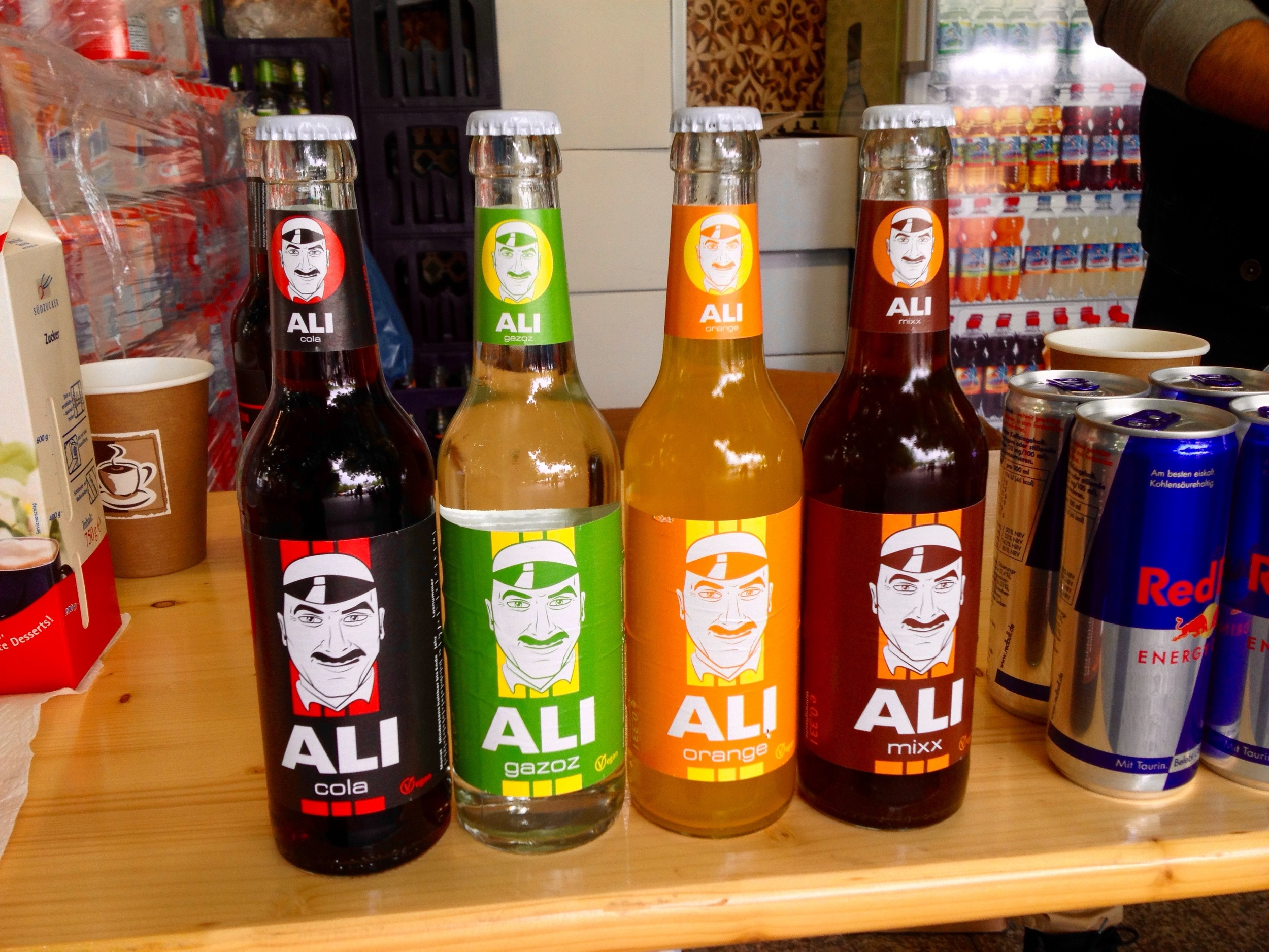Ali cola at the drink stand
